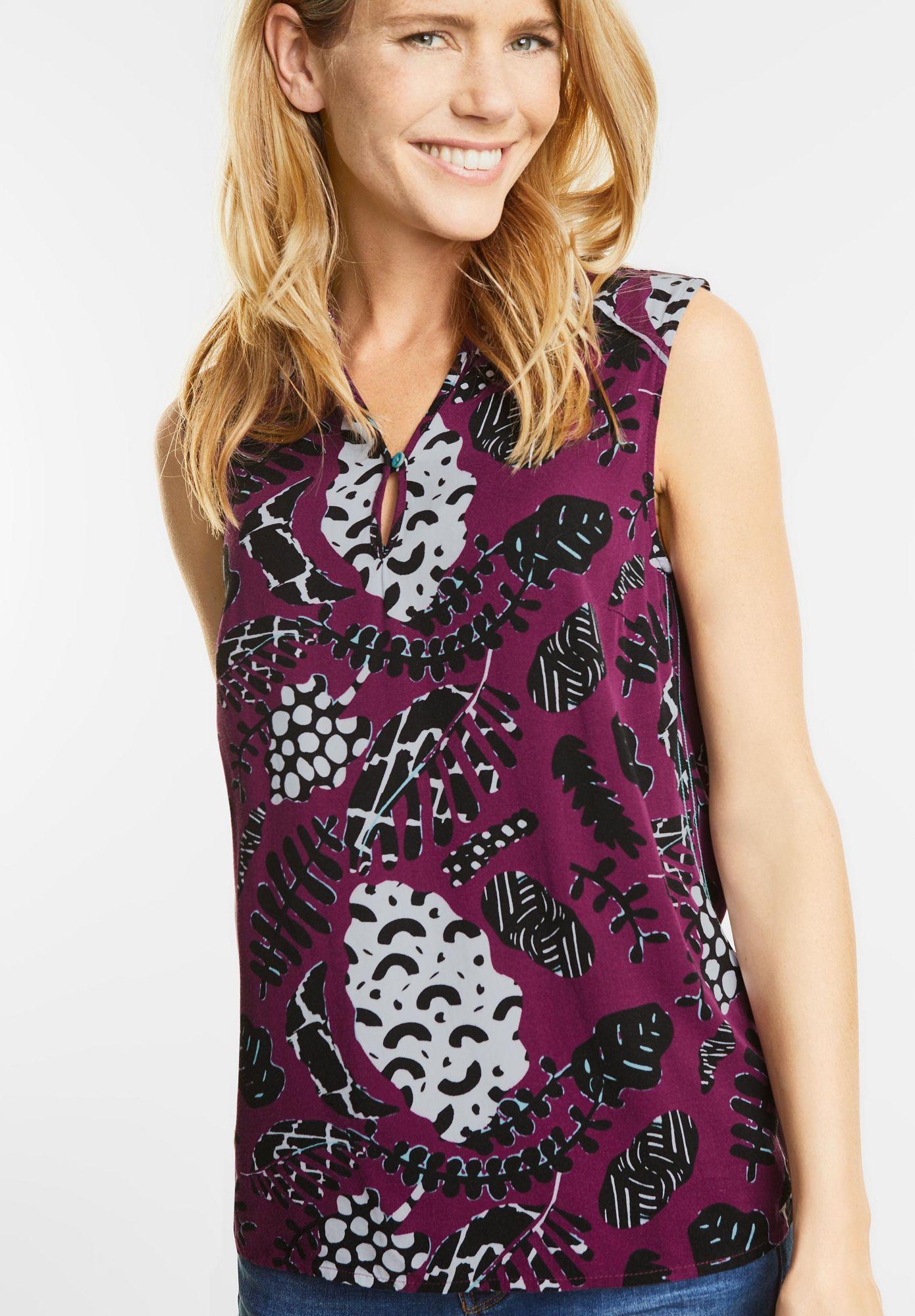 CECIL  Ärmellose Bluse mit Print