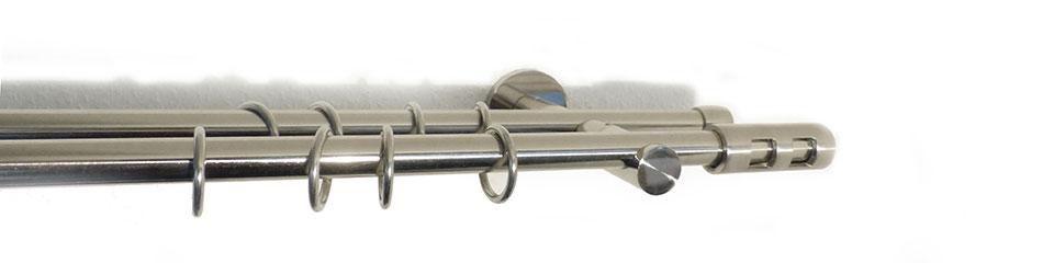 INDEKO Gardinenstange 1- oder 2-läufig nach Maß, indeko, »Kemi«, ø 16 mm