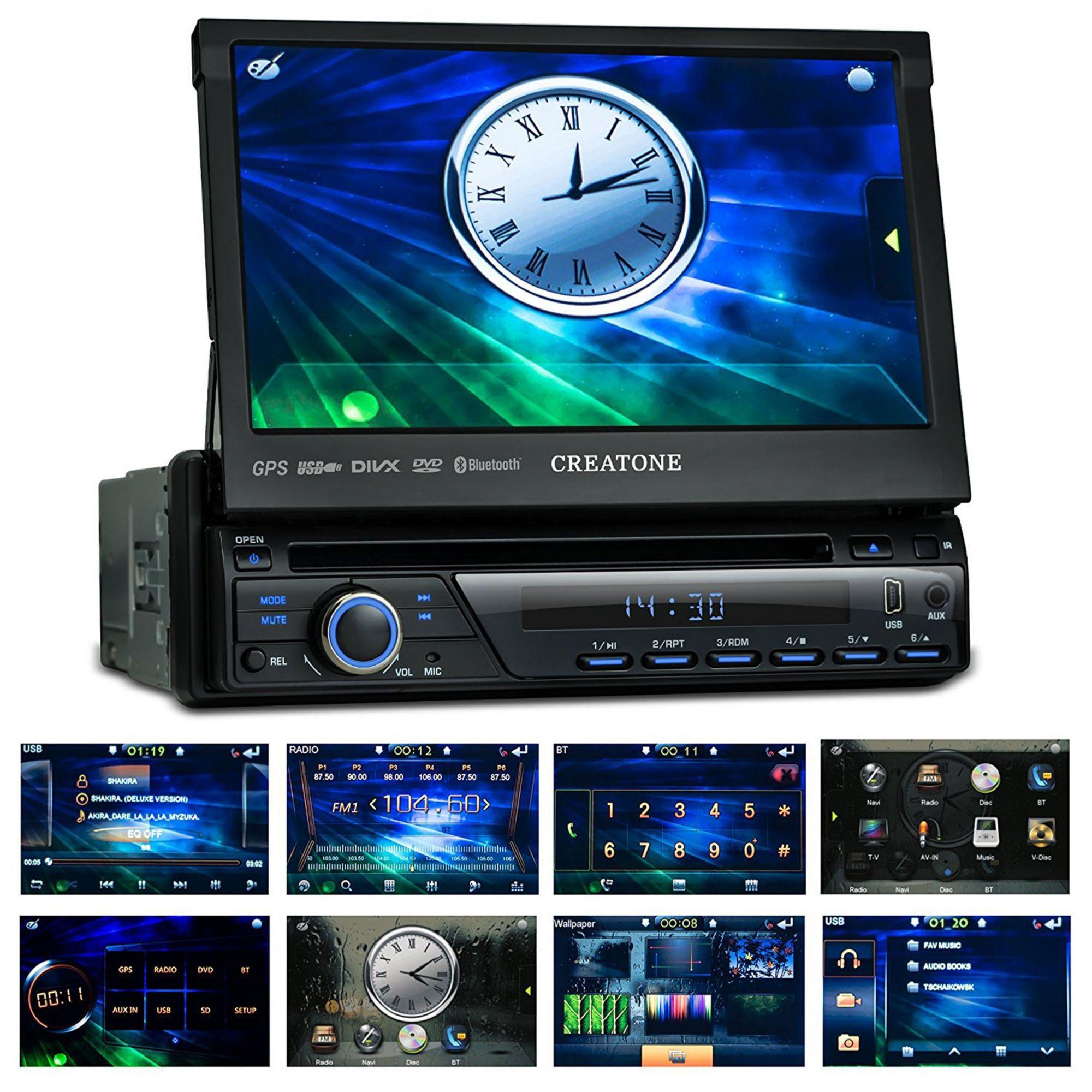 CREATONE Creatone 1-DIN Autoradio mit Navigation, Bluetooth & CD-/ DVD-Player »CTN-8423D26«