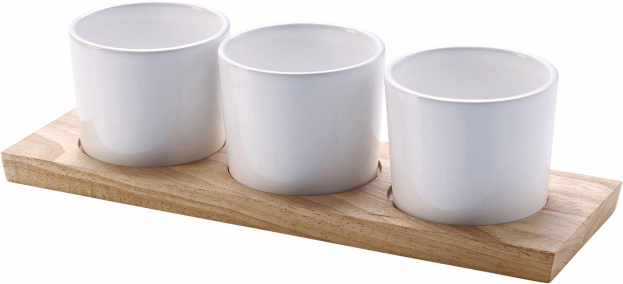 CONTINENTA  Servier-Set, Keramik, Handarbeit