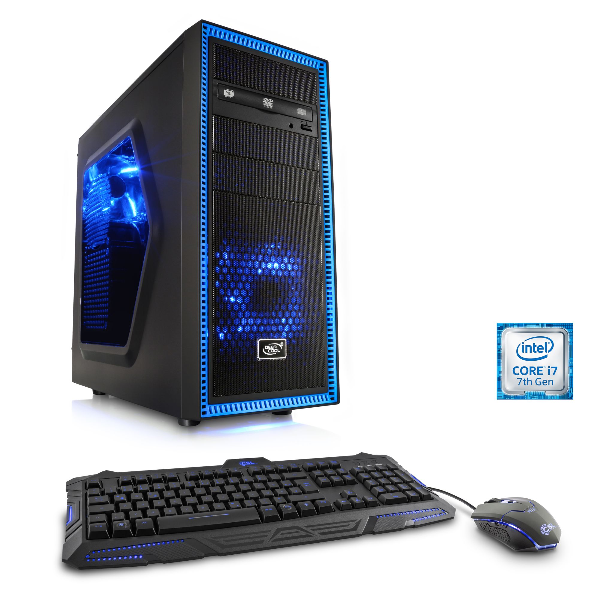 CSL  Extreme Gaming PC i7-7700K | GTX 1080 | 16GB DDR4 | 240GB SSD »Speed T7598 Windows 10 Home«