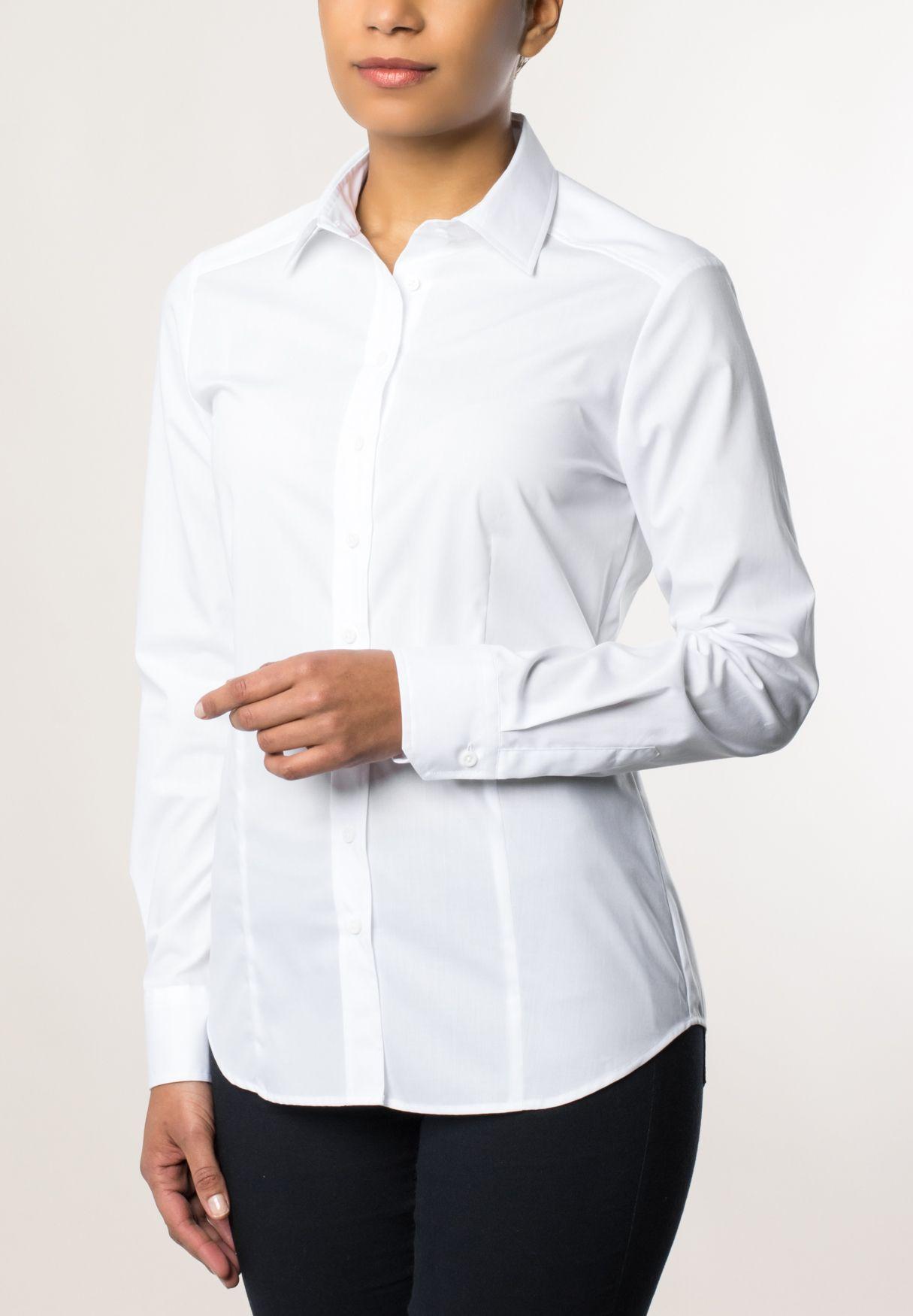 ETERNA  1/1-Arm Bluse »MODERN FIT unifarben«