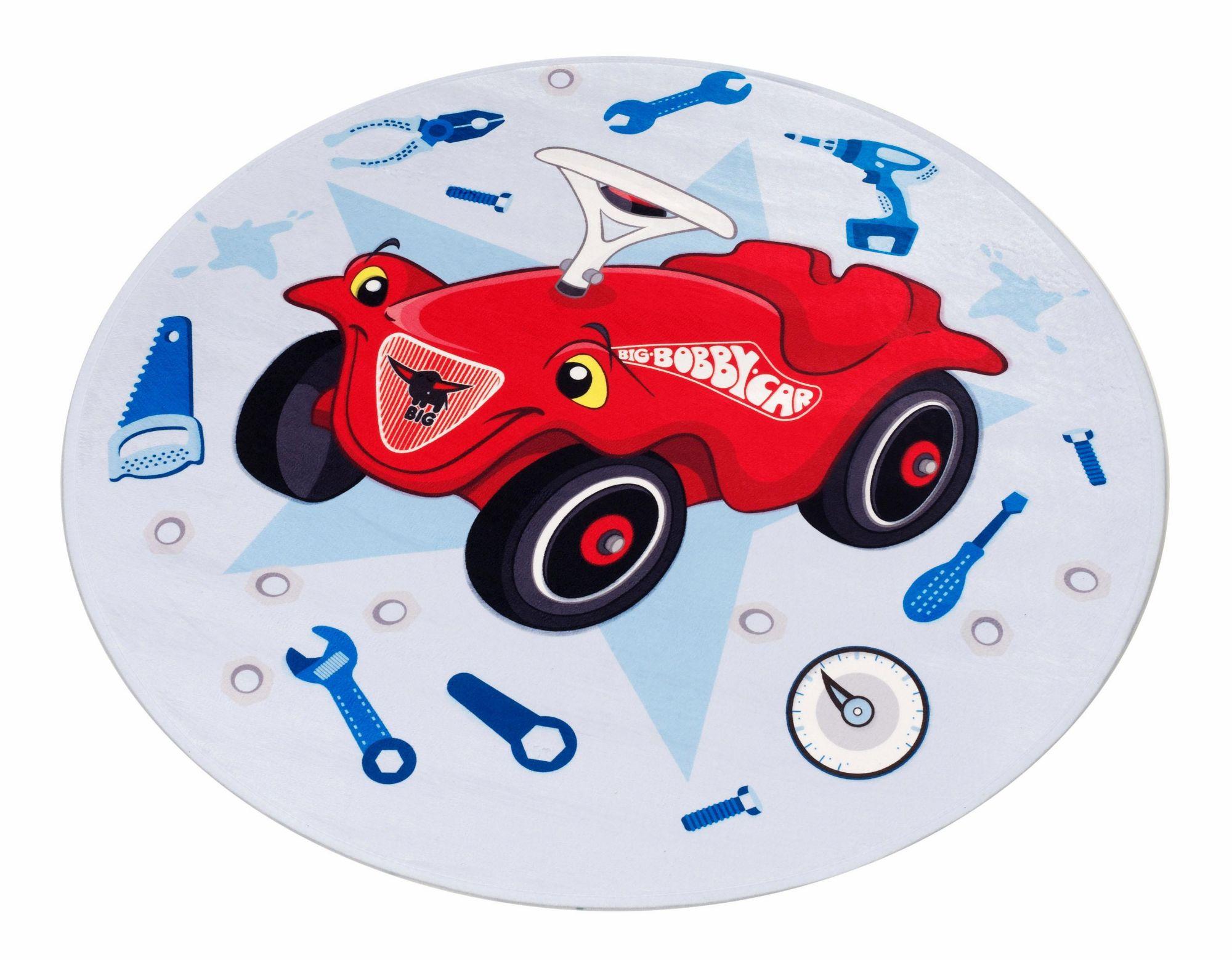 BOBBY CAR Kinderteppich, »Bobby Car 102«, Bobby Car, rund, Höhe 6 mm, gedruckt
