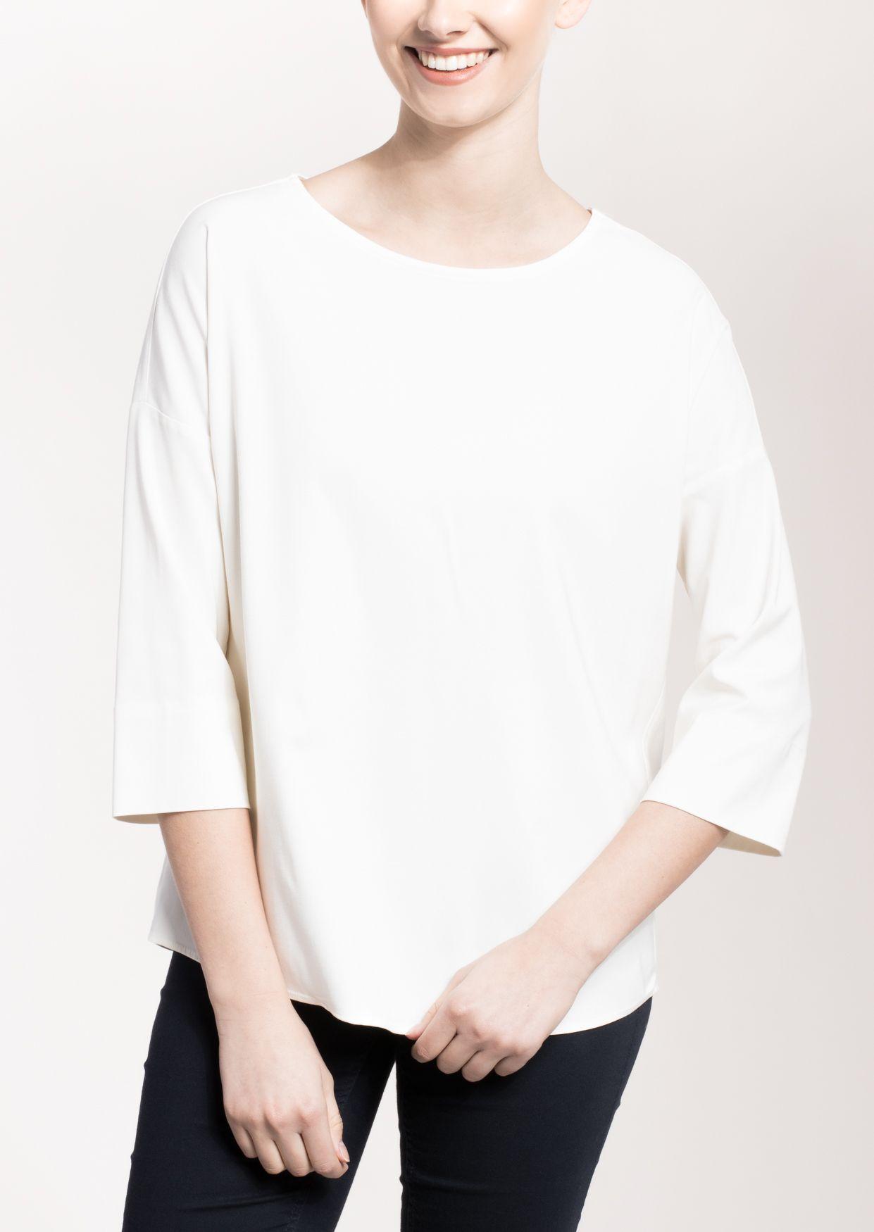 ETERNA  3/4-Arm Bluse »MODERN FIT unifarben«