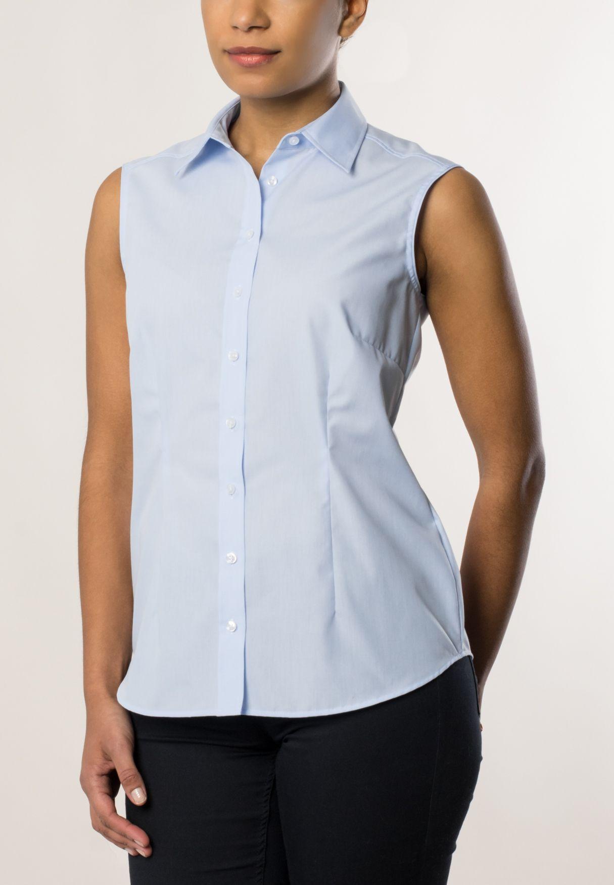 ETERNA  ohne Arm Bluse »COMFORT FIT unifarben«