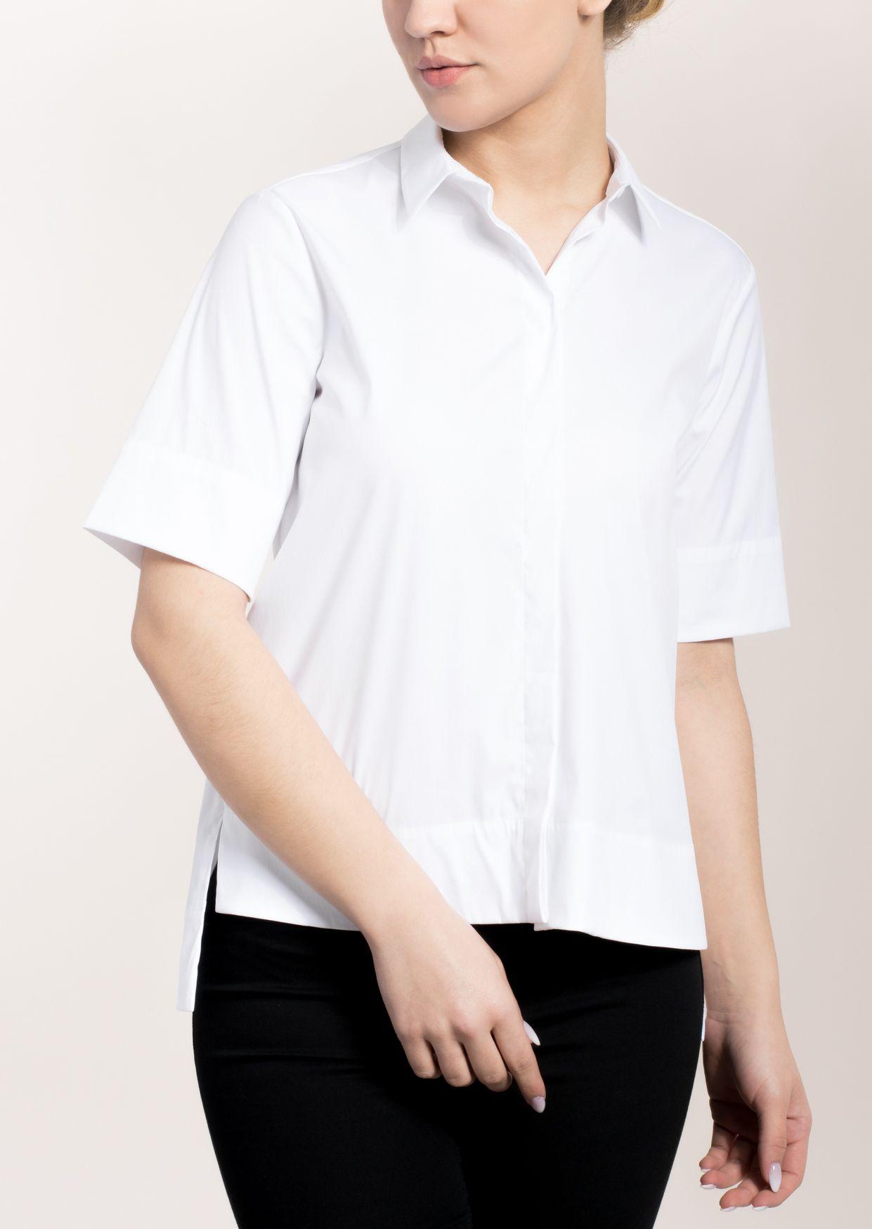 ETERNA  1/2-Arm Bluse »MODERN FIT unifarben«