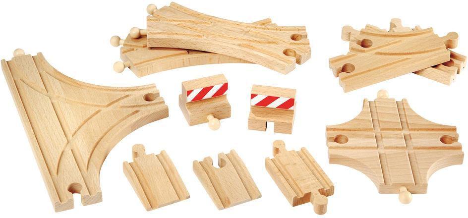 BRIO Brio Ergänzungsset Holzschienensystem, »Brio WORLD Schienen und Weichensortiment«