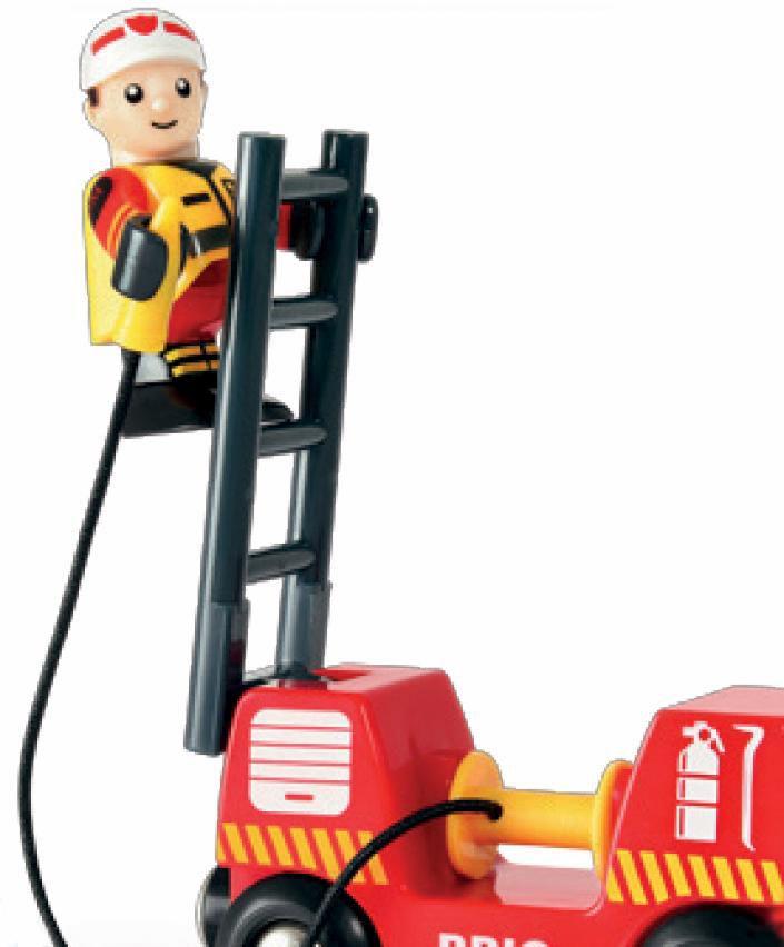 BRIO  Feuerwehr-Leiterfahrz.m.Licht,Sound