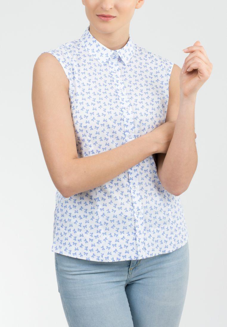 ETERNA  ohne Arm Bluse »SLIM FIT bedruckt«