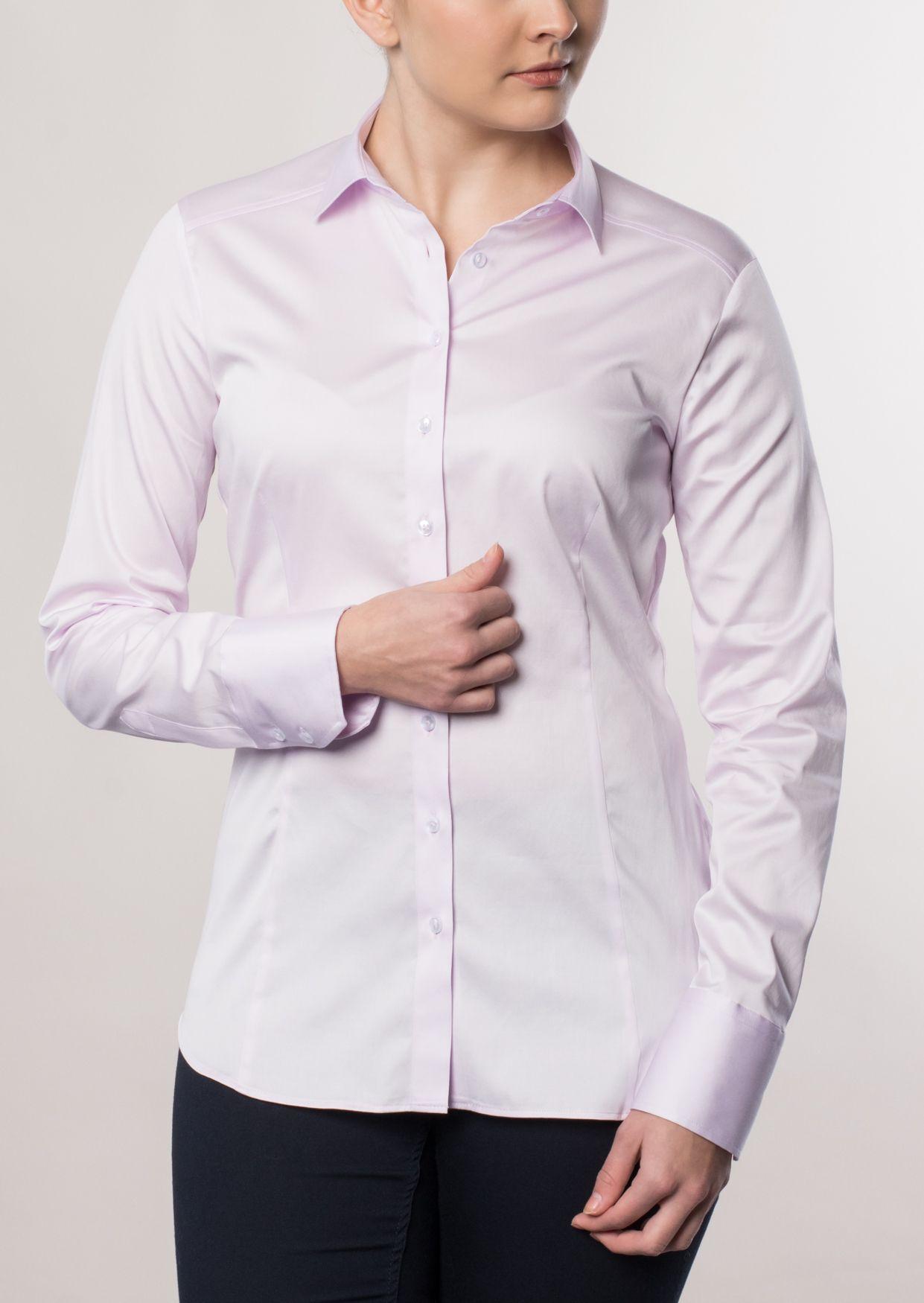 ETERNA  1/1-Arm Bluse »SLIM FIT unifarben«