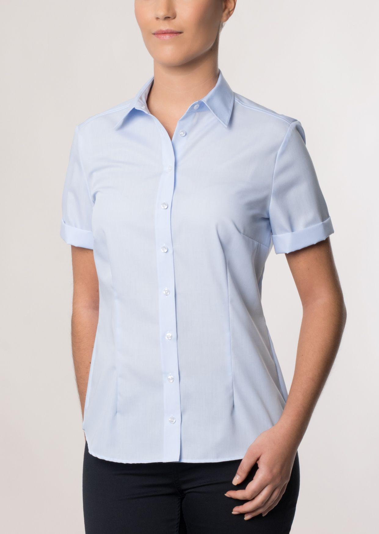 ETERNA  1/2-Arm Bluse »COMFORT FIT unifarben«