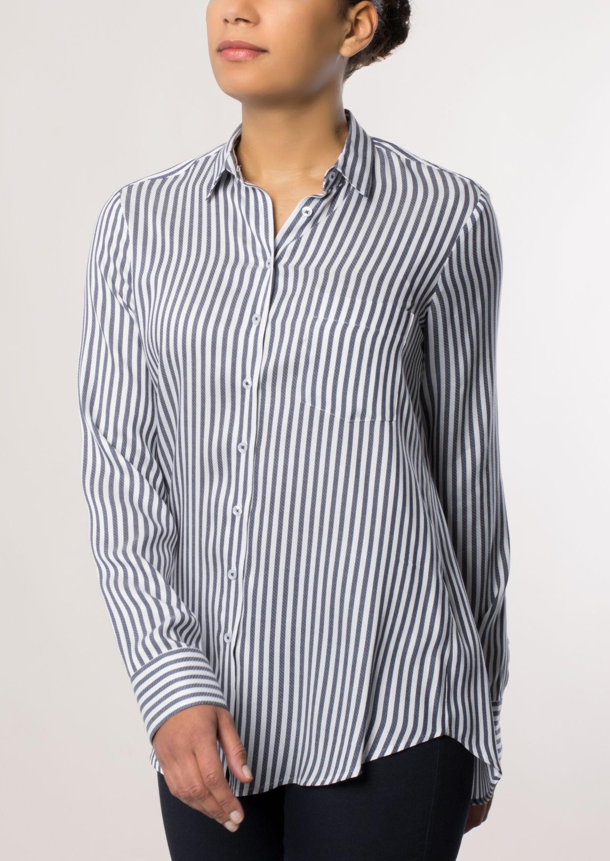 ETERNA  1/1-Arm Bluse »COMFORT FIT gestreift«