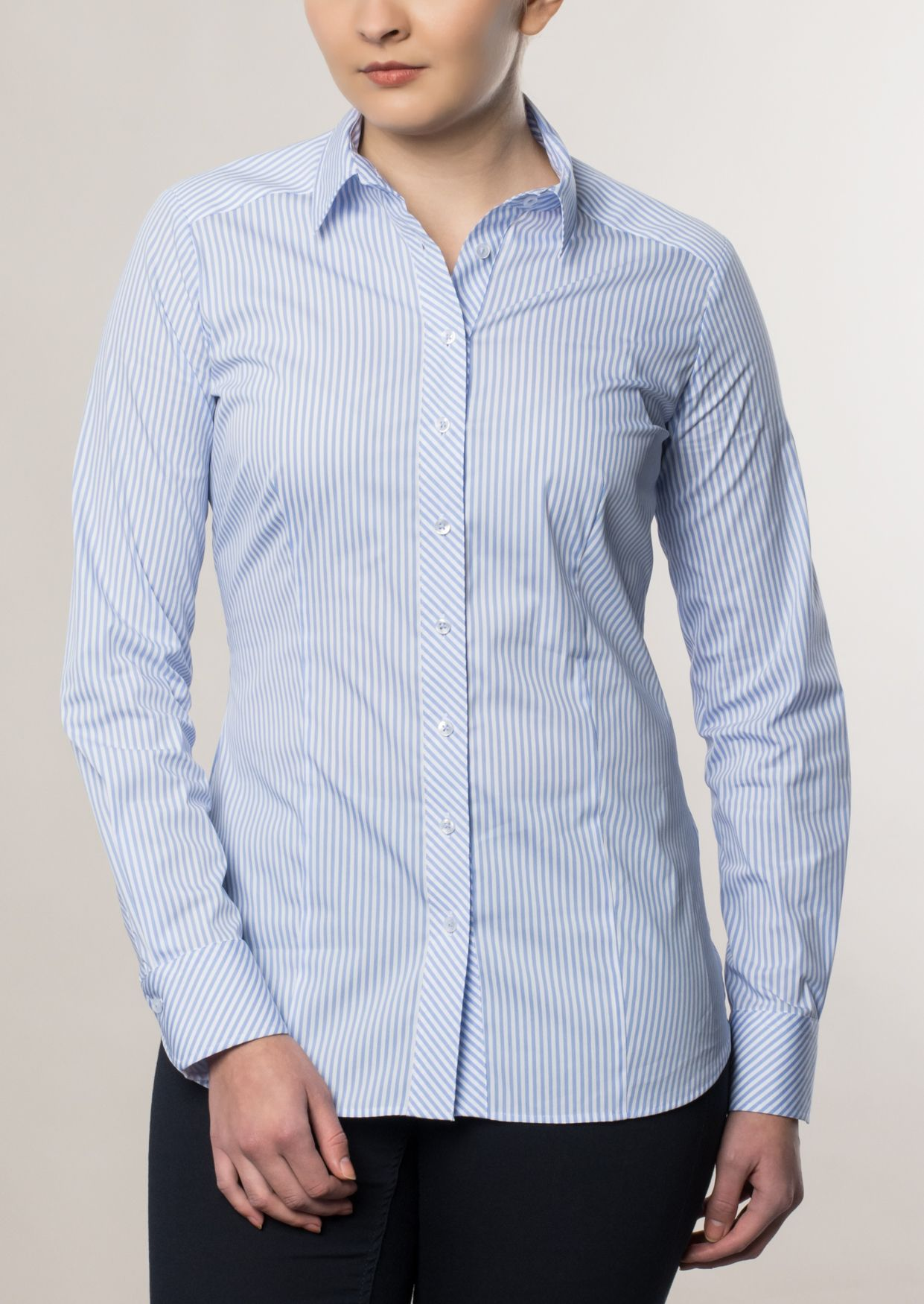ETERNA  1/1-Arm Bluse »SLIM FIT gestreift«