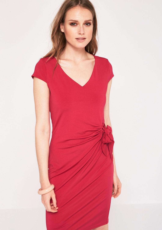 COMMA  Abendkleid mit elegantem Faltenwurf
