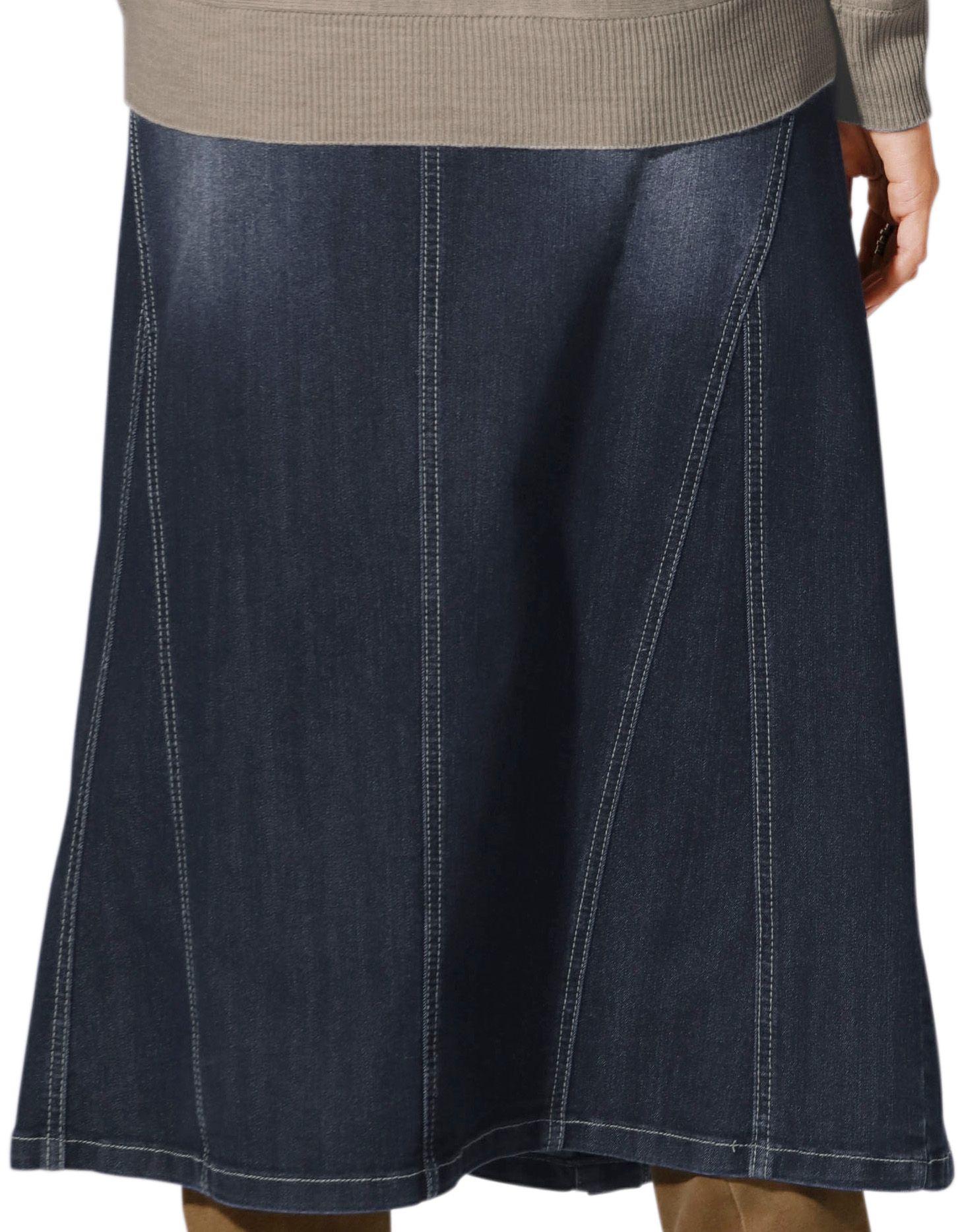 CLASSIC INSPIRATIONEN Classic Inspirationen Jeans-Rock in leichter A-Form