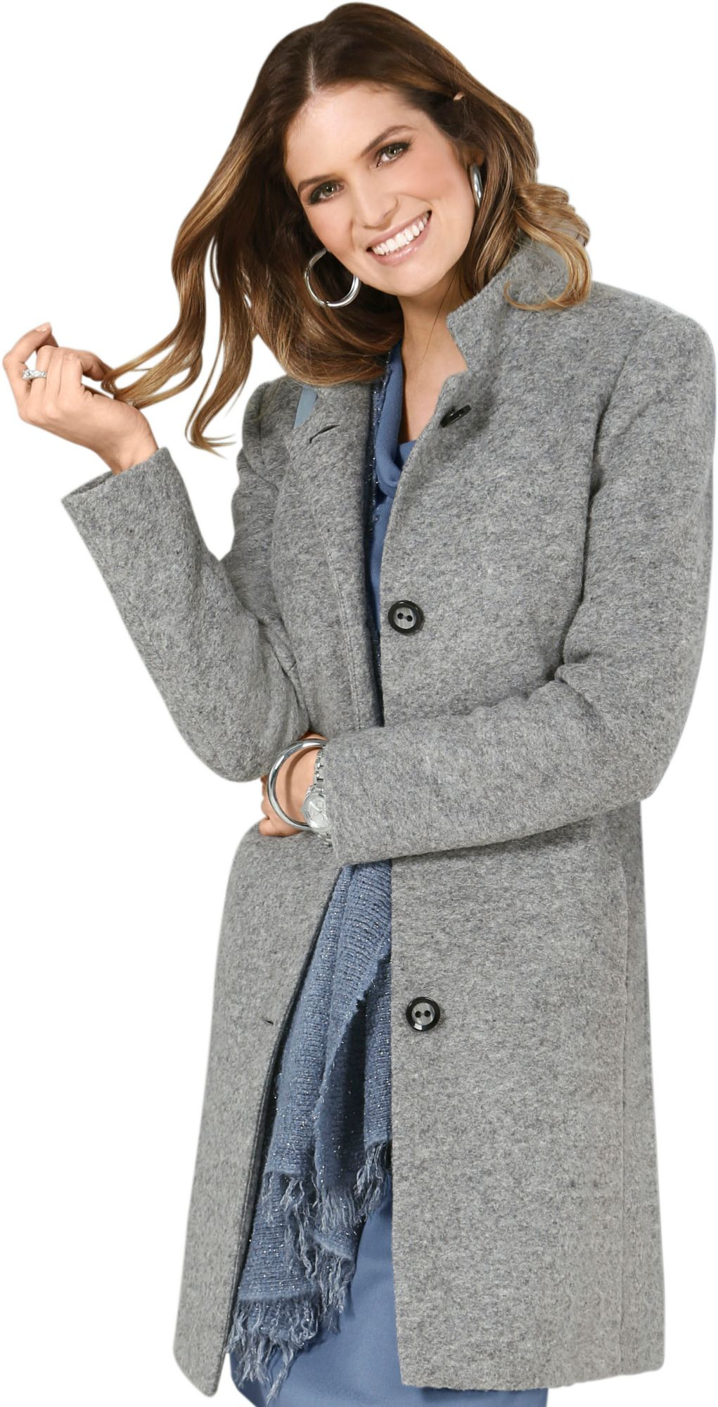 ALESSA W Alessa W. Kurzmantel mit gewalkter Wolle