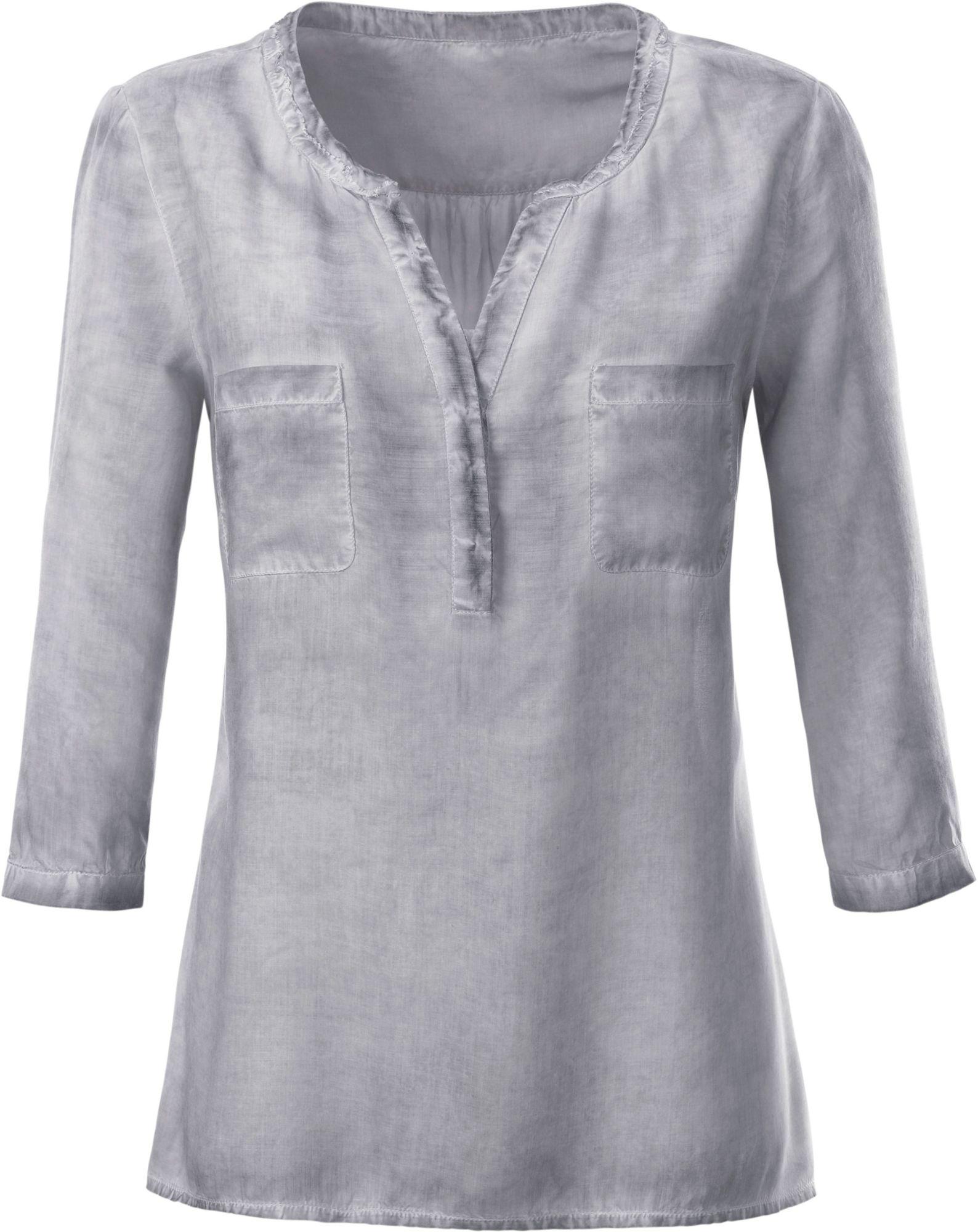 CLASSIC INSPIRATIONEN Classic Inspirationen Bluse in angesagter »oil dyed«-Optik