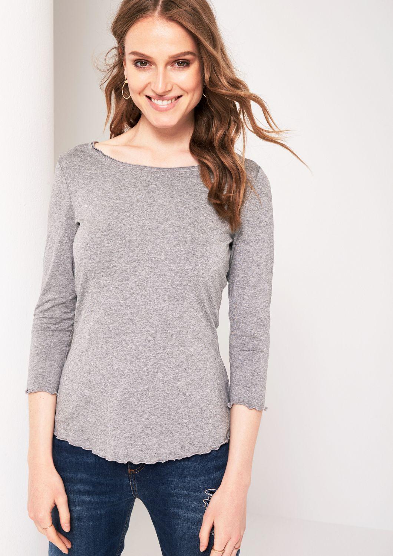 COMMA  3/4-Arm Shirt mit raffinierten Details