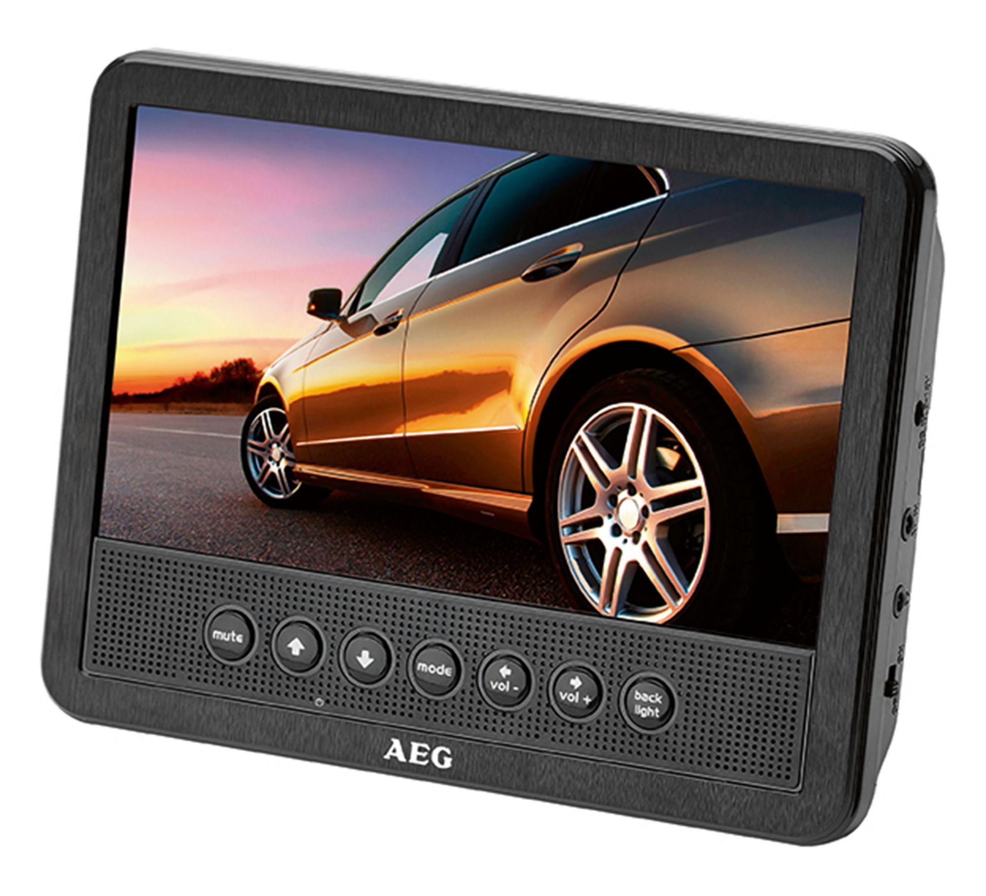 AEG  DVD 4555 Car Cinema Set 7 Zoll 2x7 Zoll TFT USB/CARD schwarz