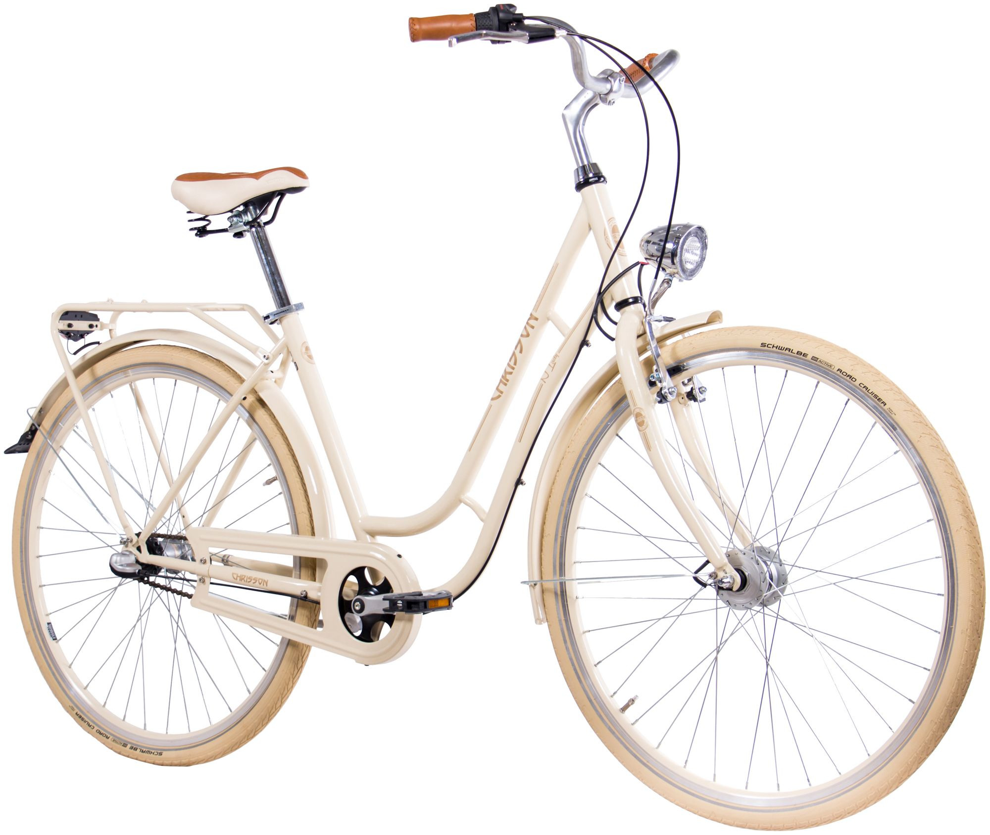 CHRISSON  Citybike Damen »N LADY«, 28 Zoll, 3 Gang, Rücktrittsbremse