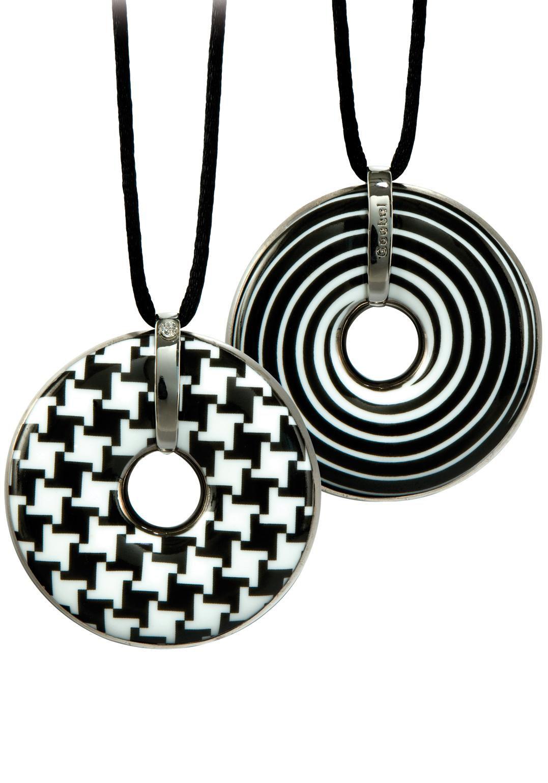 GOEBEL Goebel Kette mit Anhänger »Hahnentritt/Spirale, 66999161«