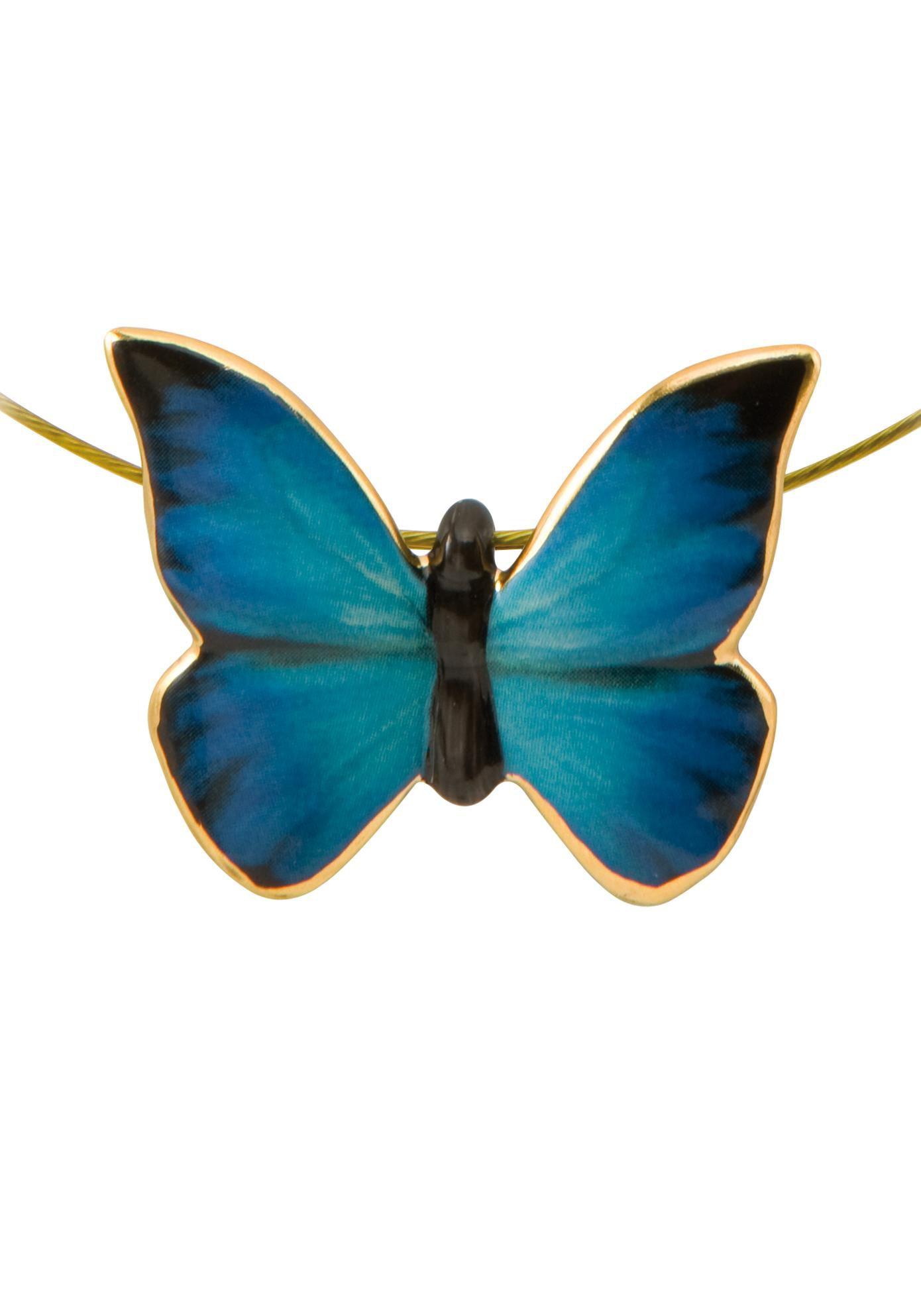 GOEBEL Goebel Kette mit Anhänger »Butterfly Blue, Schmetterling, 26150451«