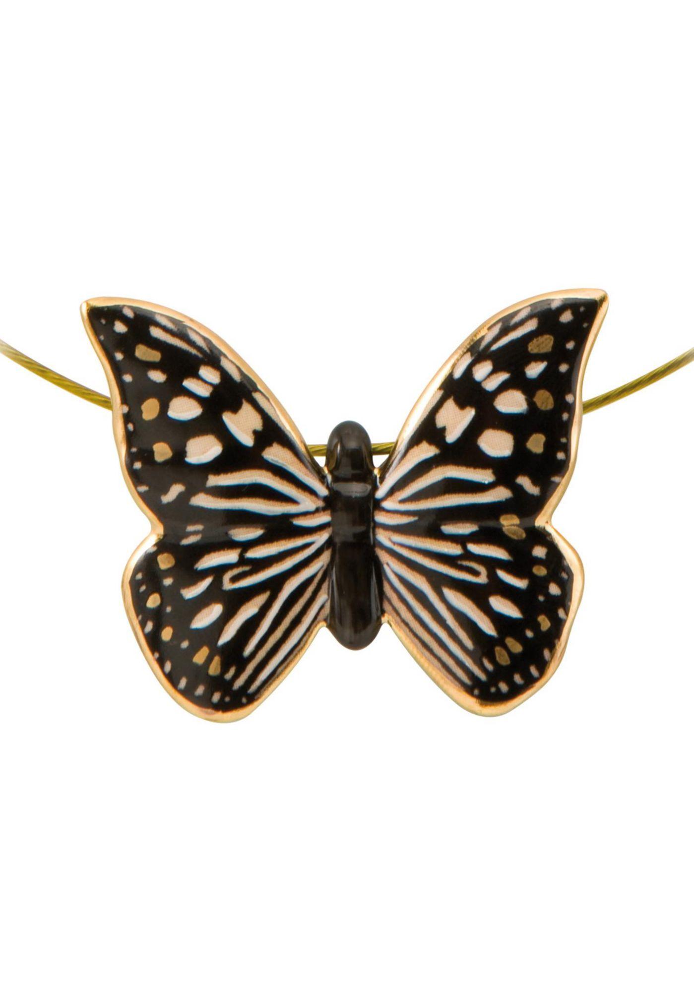 GOEBEL Goebel Kette mit Anhänger »Butterfly Black-White, Schmetterling, 26150481«