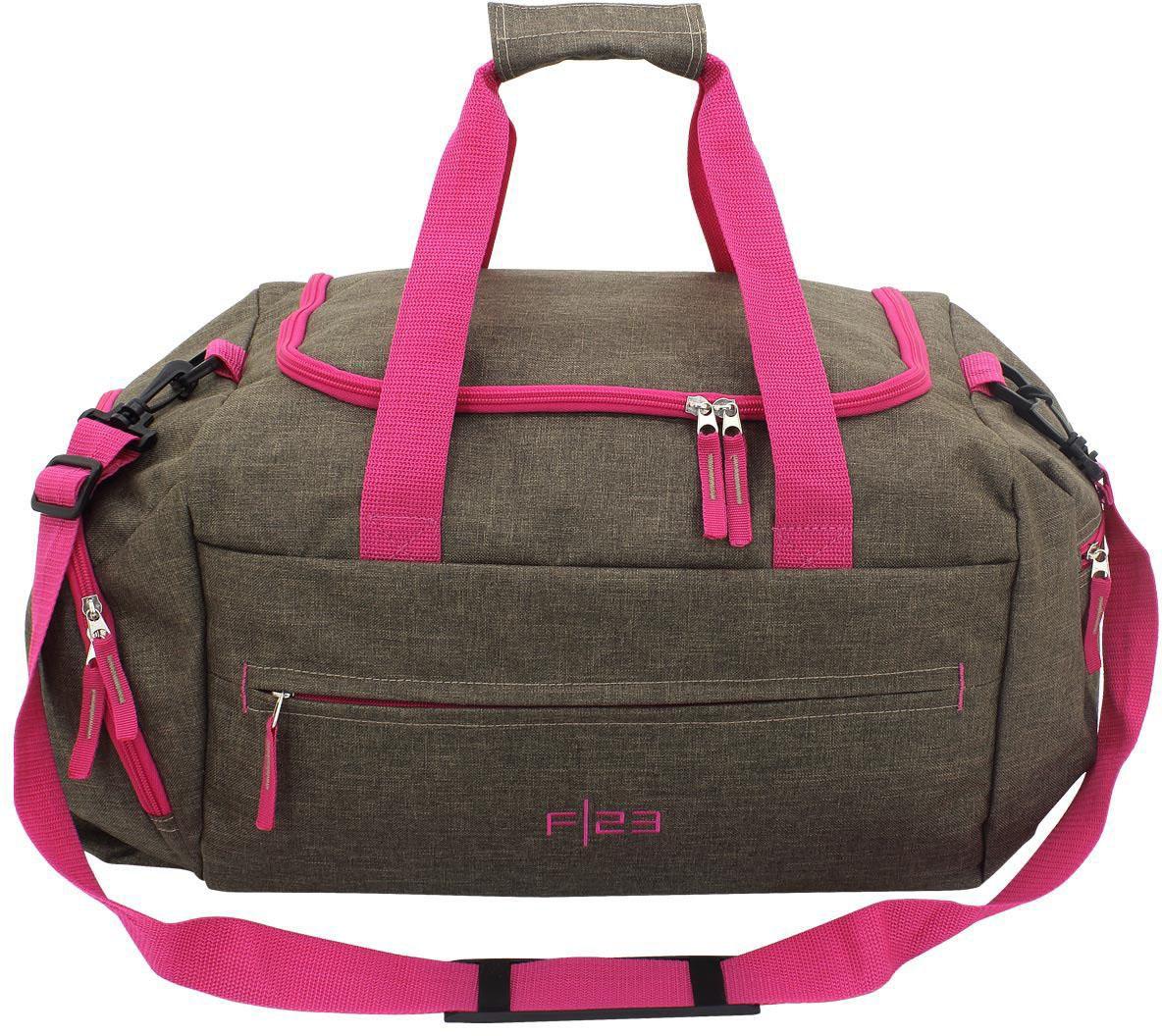 F23 ? Reisetasche, »Two-Tone braun/pink«