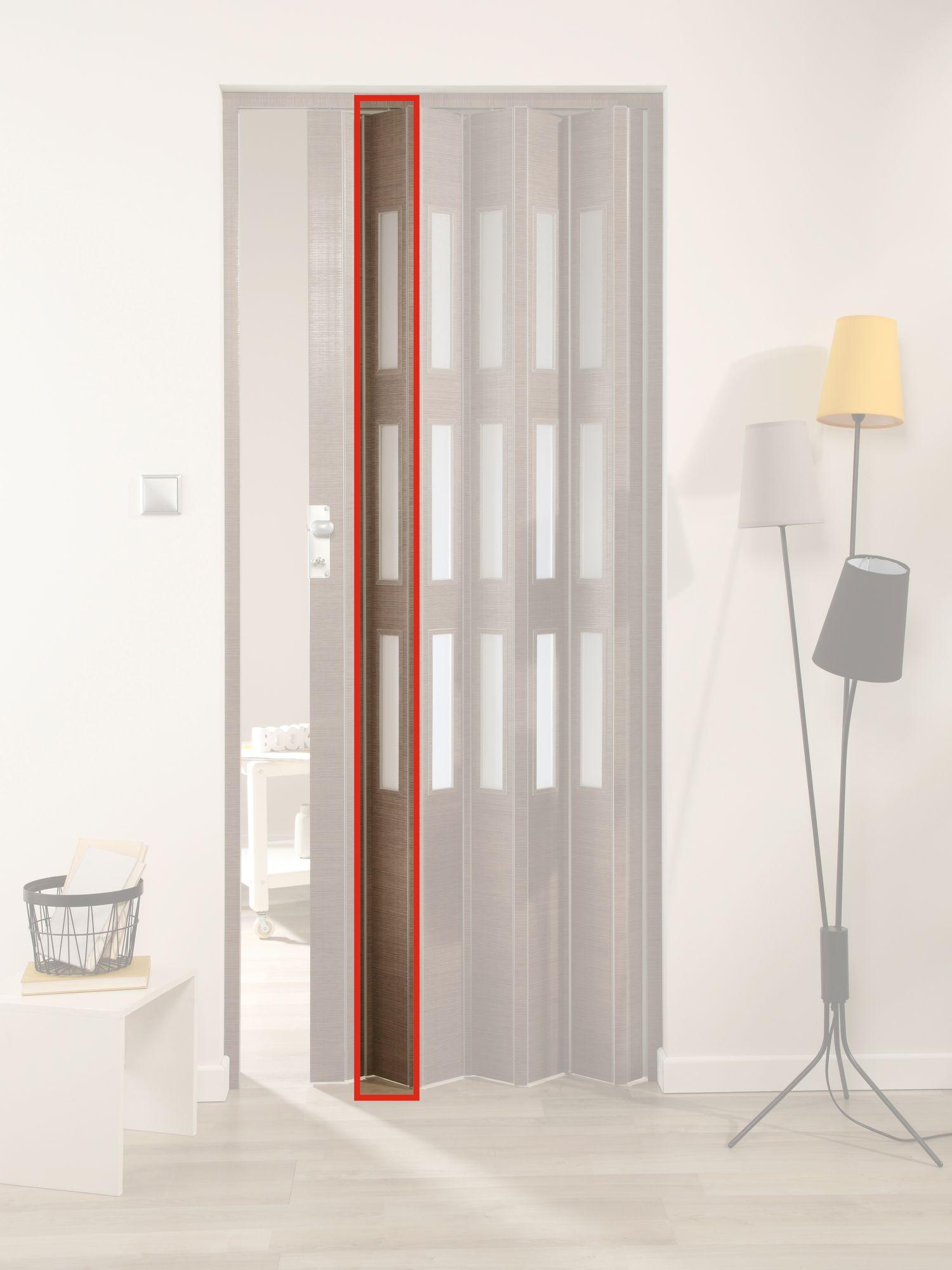 FORTE  Türerweiterung , Zusatzlamelle für Falttür »Elvira«, eiche taupe + 3 Fenster