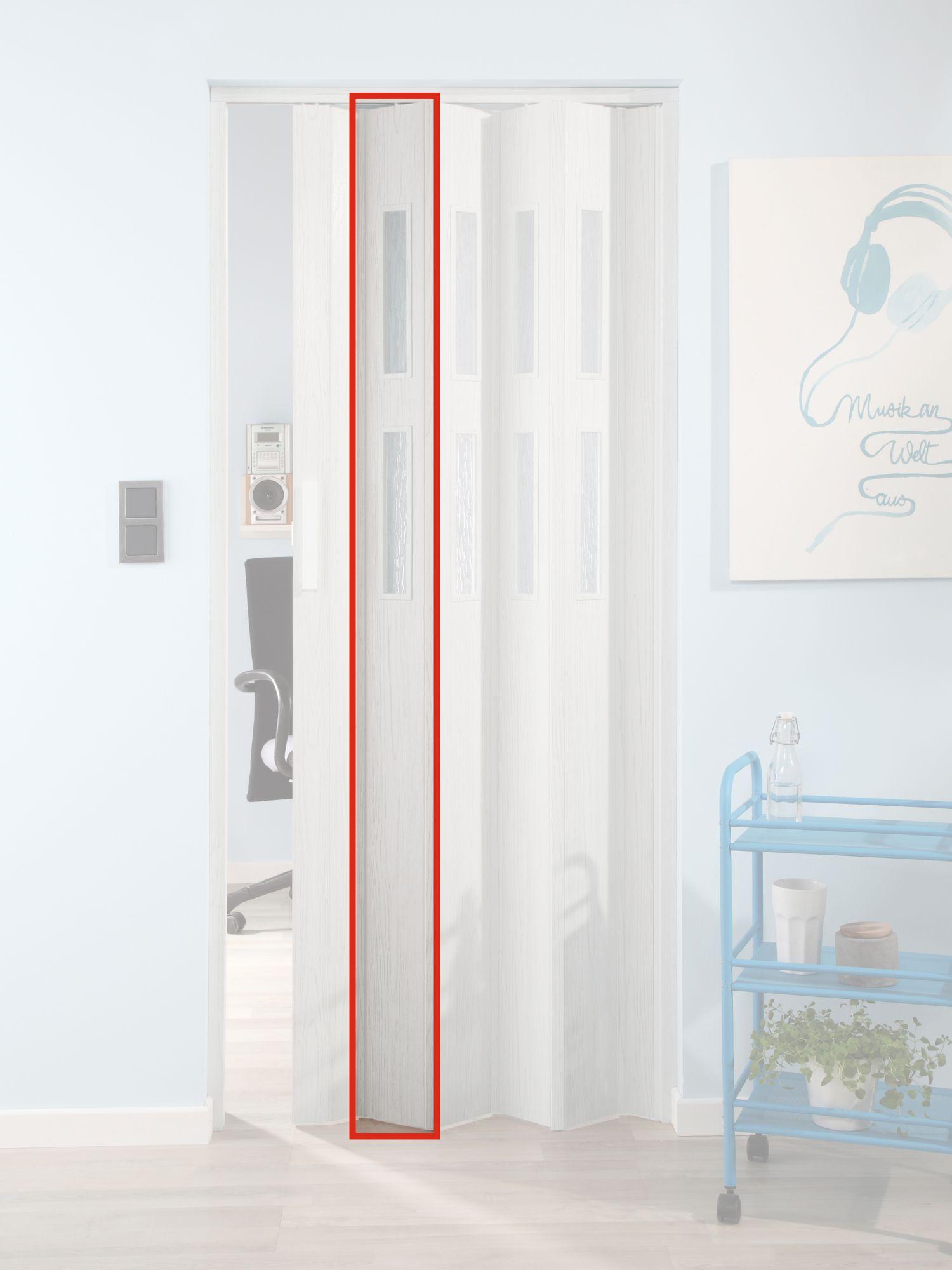 FORTE  Türerweiterung , Zusatzlamelle für Falttür »Luciana«, eiche weiß + 2 Fenster