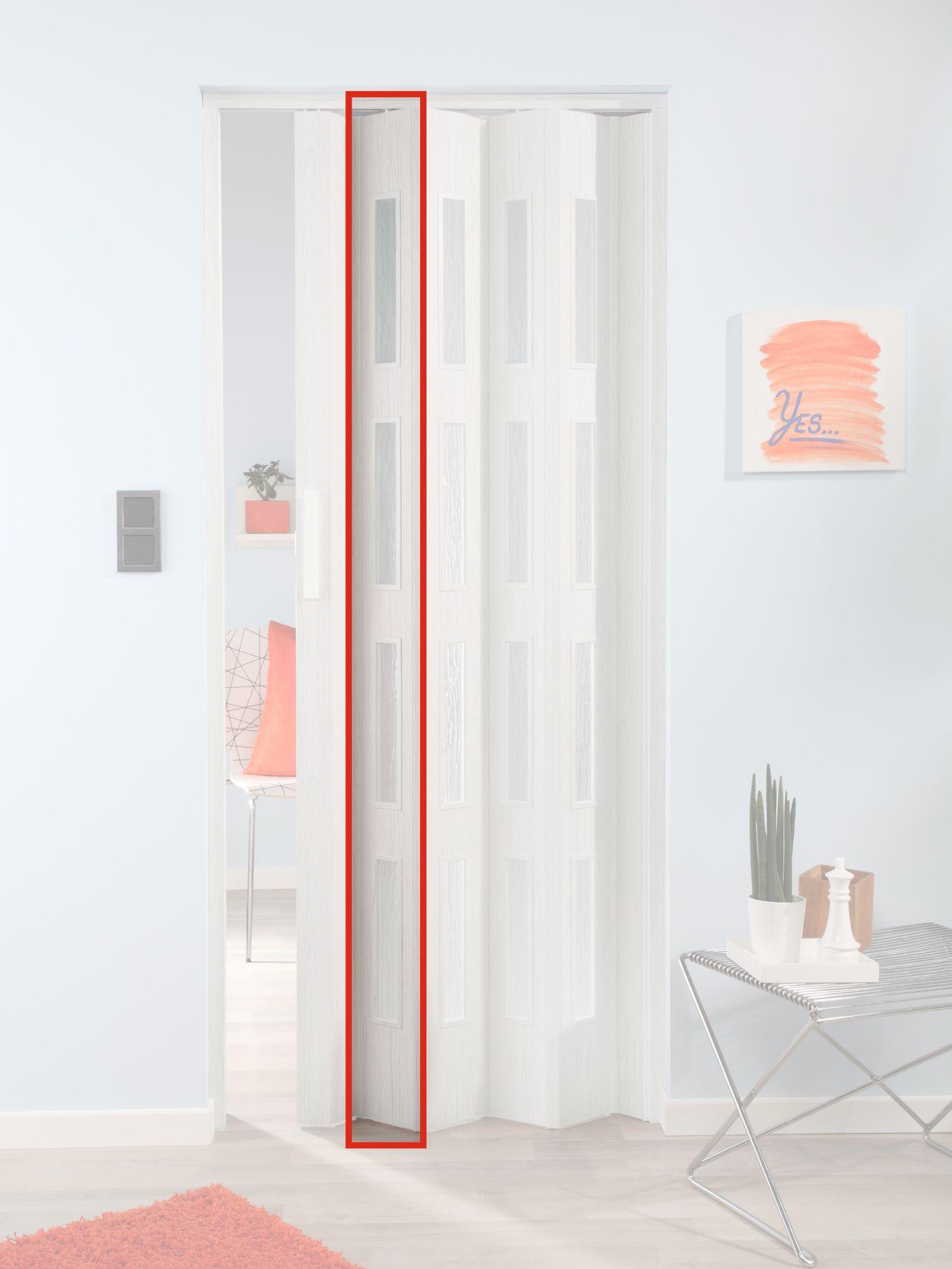 FORTE  Türerweiterung , Zusatzlamelle für Falttür »Luciana«, eiche weiß + 4 Fenster