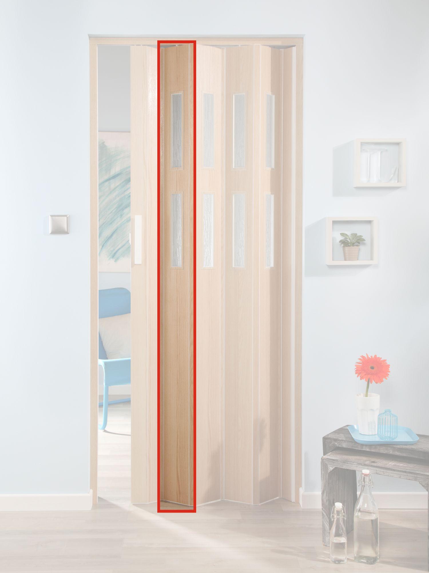 FORTE  Türerweiterung , Zusatzlamelle für Falttür »Luciana«, esche holz + 2 Fenster