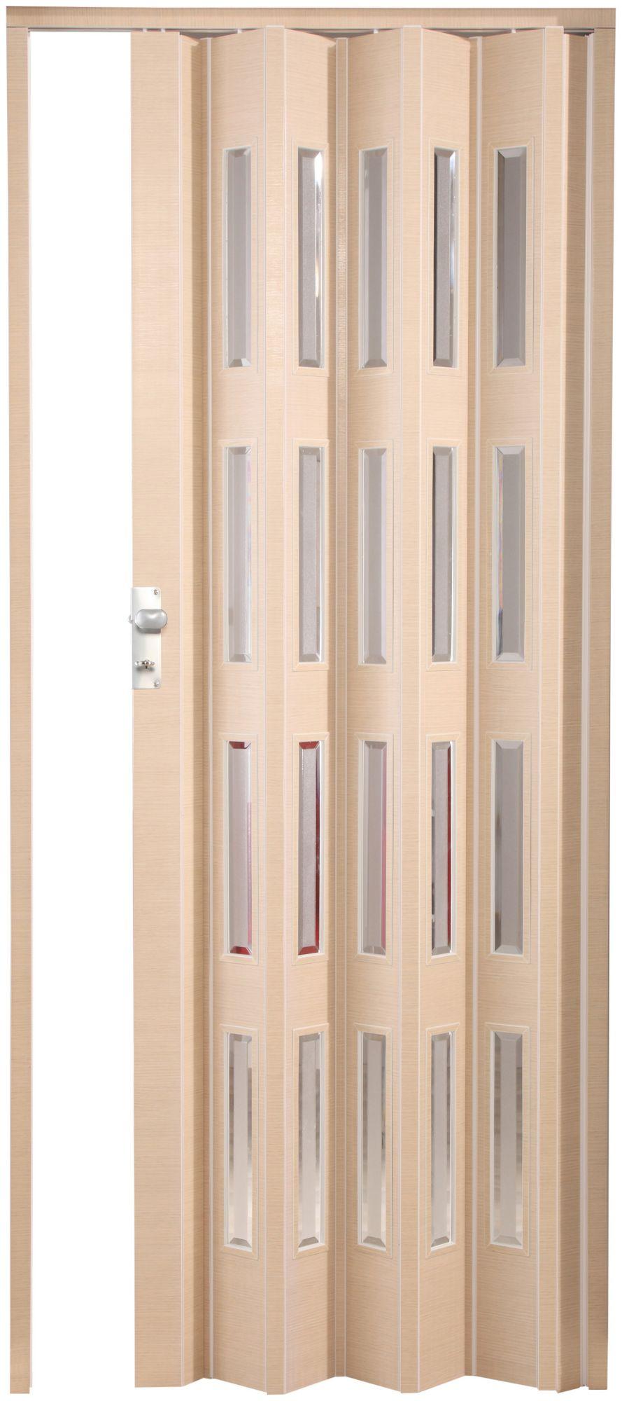 FORTE  Kunststoff-Falttür »Elvira«, wildeiche natur, mit 4 Fenstern in Cristall