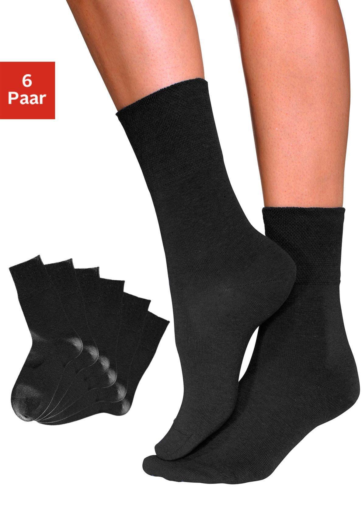 GO IN  Diabetiker-Socken (6 Paar) mit Komfortbund