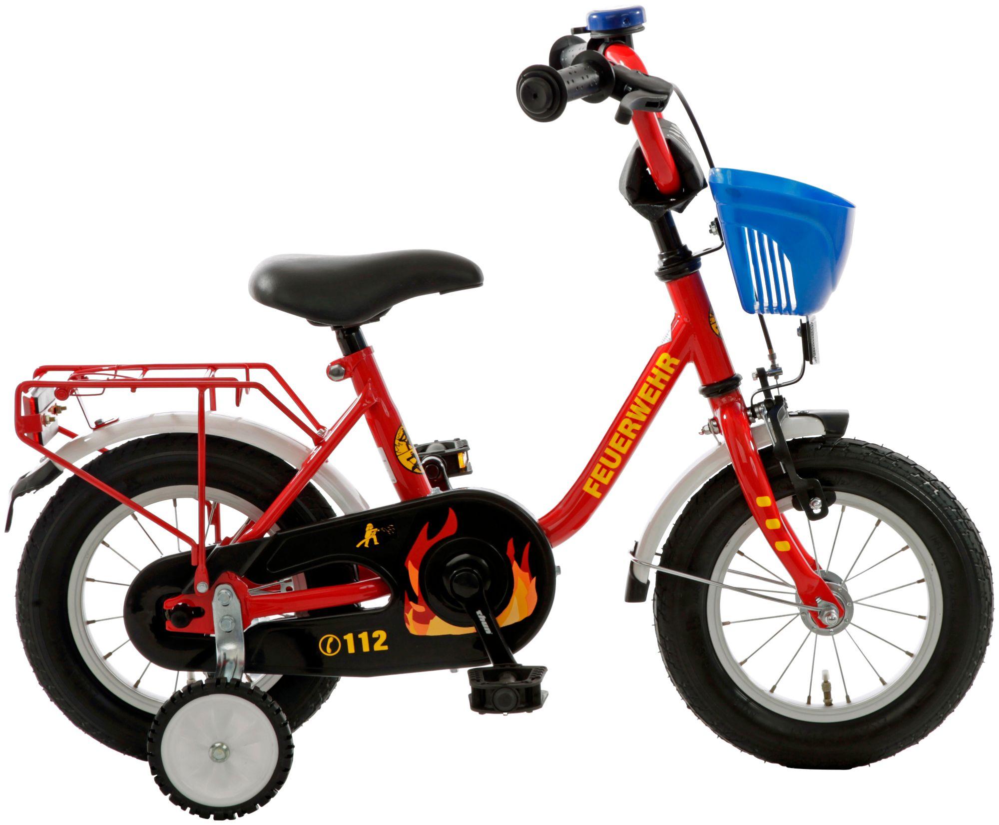 """CYCLES4KIDS Bachtenkirch Bachtenkirch Kinderfahrrad 12,5"""" Feuerwehr rot-gelb"""