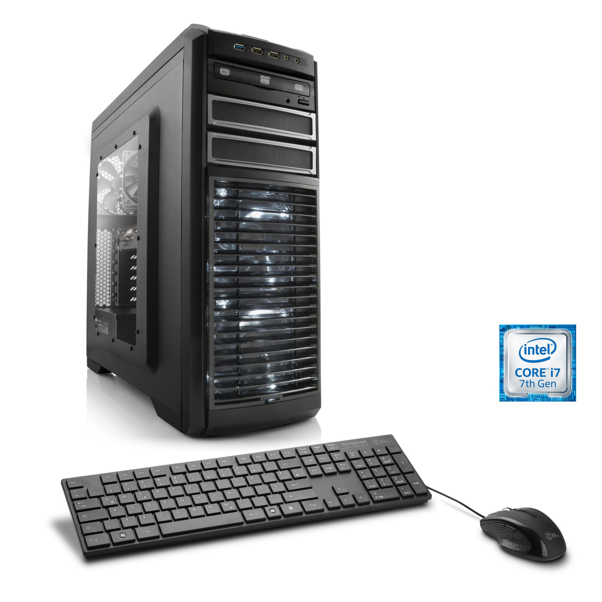 CSL  Extreme Gaming PC | i7-7700K | GTX 1080 | 32GB DDR4 | SSD »Victoriatus T7383 Powered by MSI«