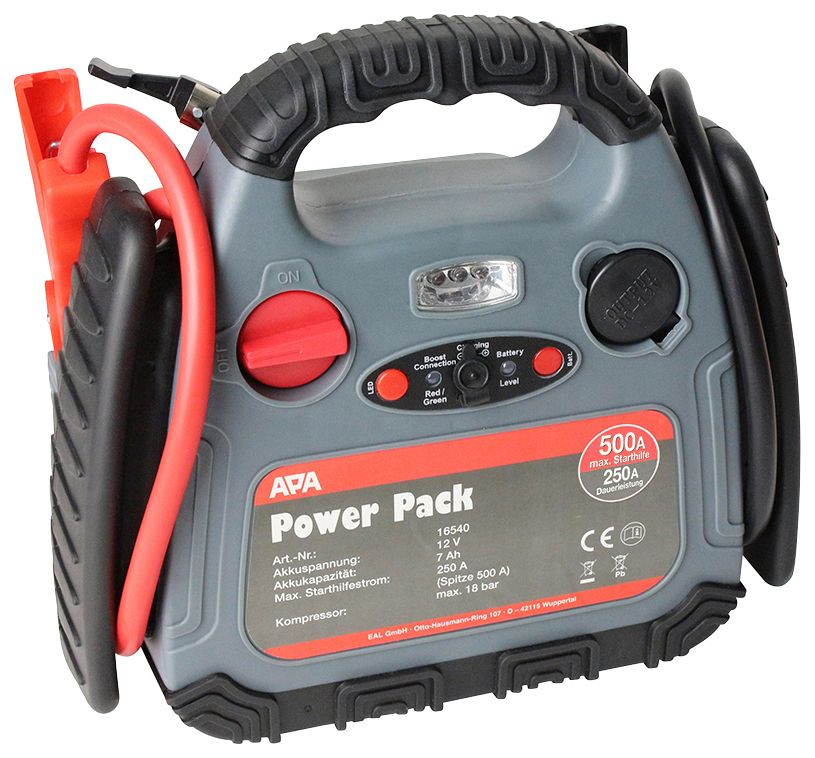 APA  Batterieladegerät »Power Pack«, bis 500 Ampere, mit Kompressor