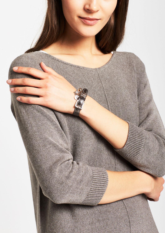 COMMA  Armband aus silbrig glänzendem Fakeleder