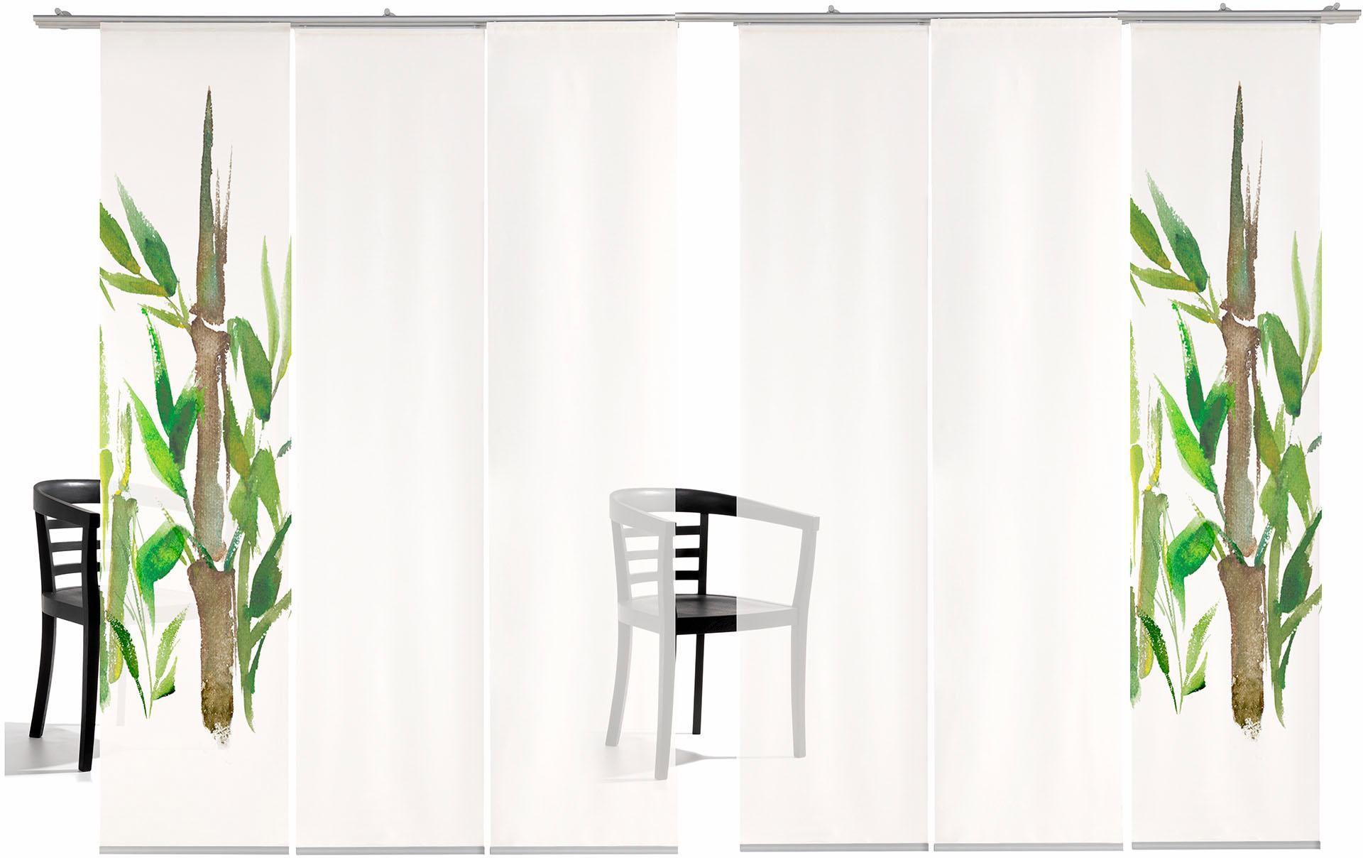 EMOTIONTEXTILES Schiebegardine, emotion textiles, »Bambus TR«, mit Klettband, Mehrfachsets (mit Zubehör)