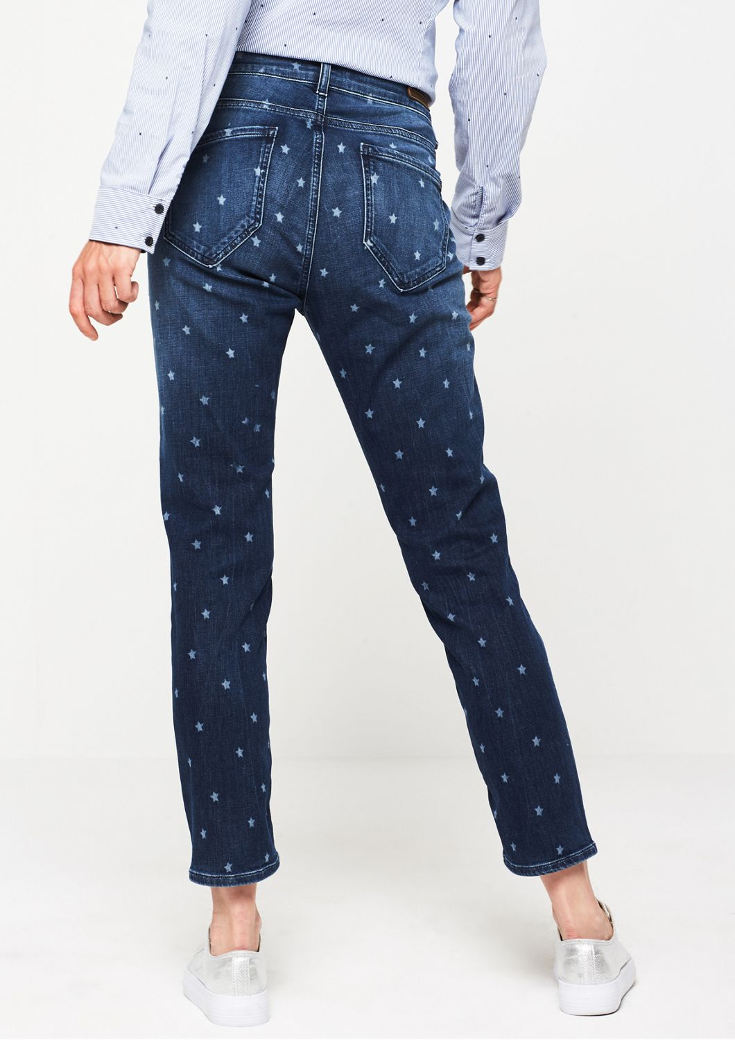 COMMA  7/8-Jeans mit Sternchenmuster