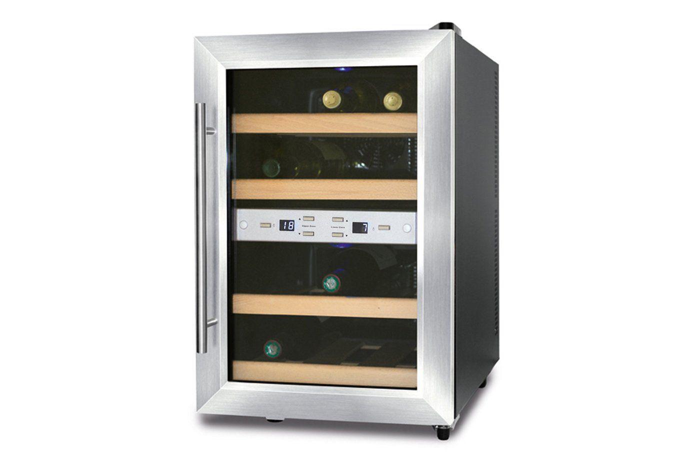 CASO DESIGN CASO Design Weinkühlschrank »Wine Duett 12«, Höhe 54 cm, für 12 Bordeauxflaschen á 0,75l