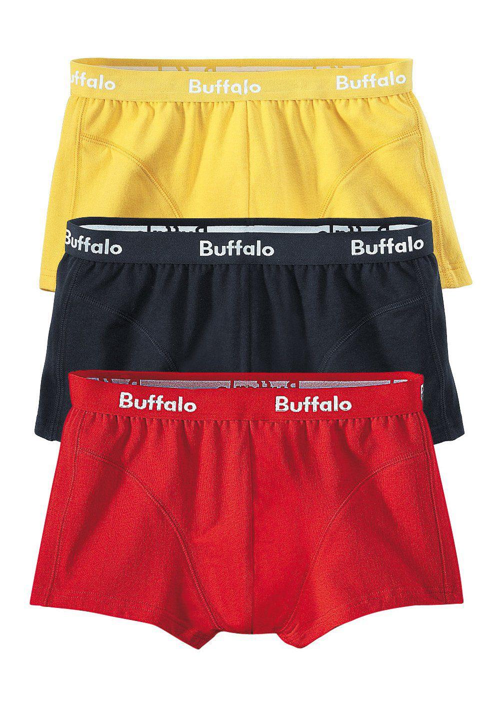 BUFFALO Buffalo Boxer (3 Stück) in Baumwoll- Stretch- Qualität
