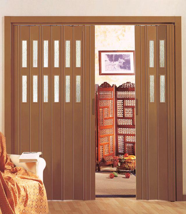 Kunststoff-Falttür »Luciana«, BxH: 88,5x202 cm, Buchefarben ohne Fenster