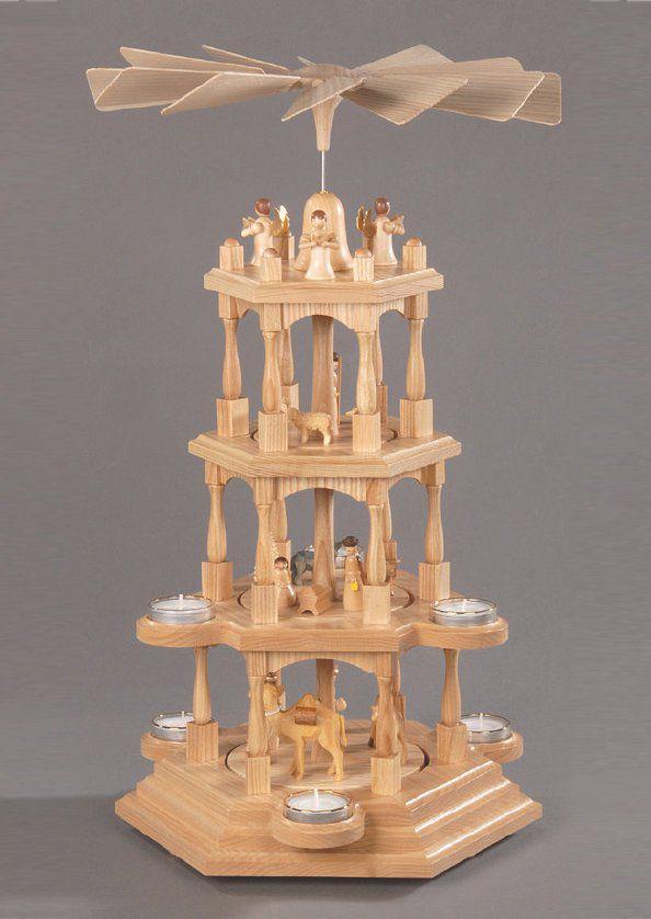 ALBIN PREISSLER Pyramide, natur, »Christi Geburt«, Albin Preissler