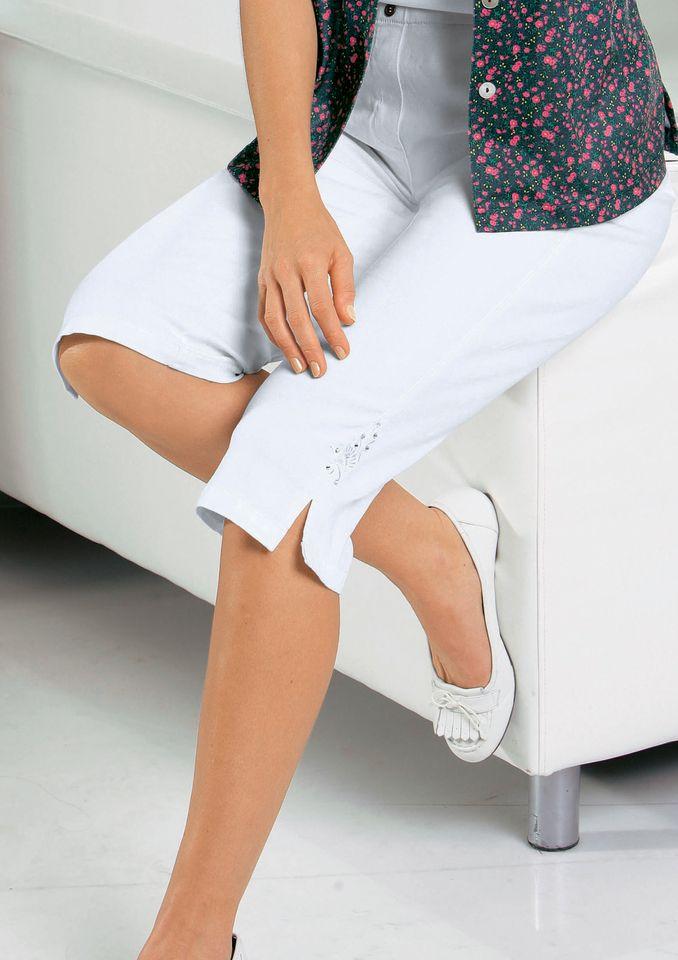 CLASSIC BASICS Classic Basics Capri-Jeans mit bequemem Rundum-Dehnbund