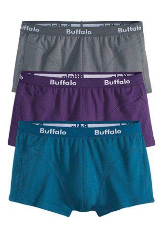 BUFFALO Buffalo Baumwoll-Hipster (3 Stück) in verschiedenen Farbkombinationen