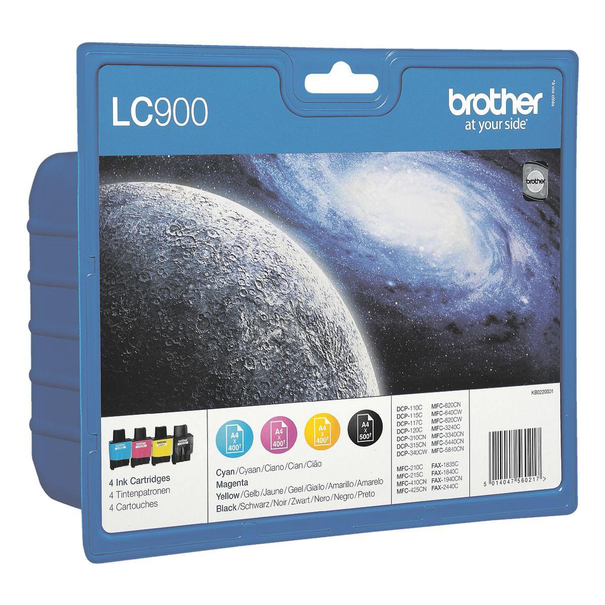 BROTHER Blisterfarbentintenset LC-900