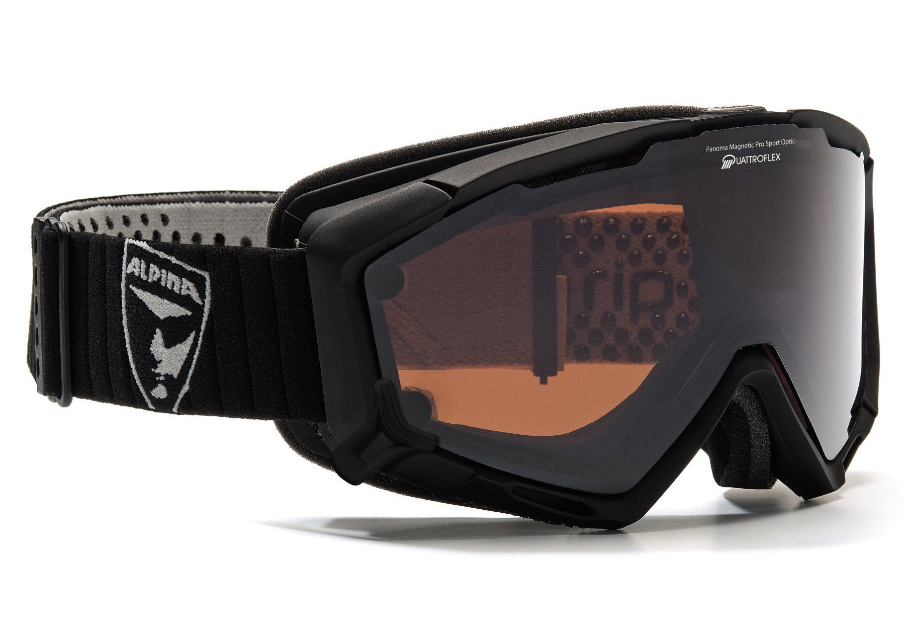 ALPINA SPORT Skibrille, schwarz matt, Alpina, »Panoma Magnetic«, Made in Germany