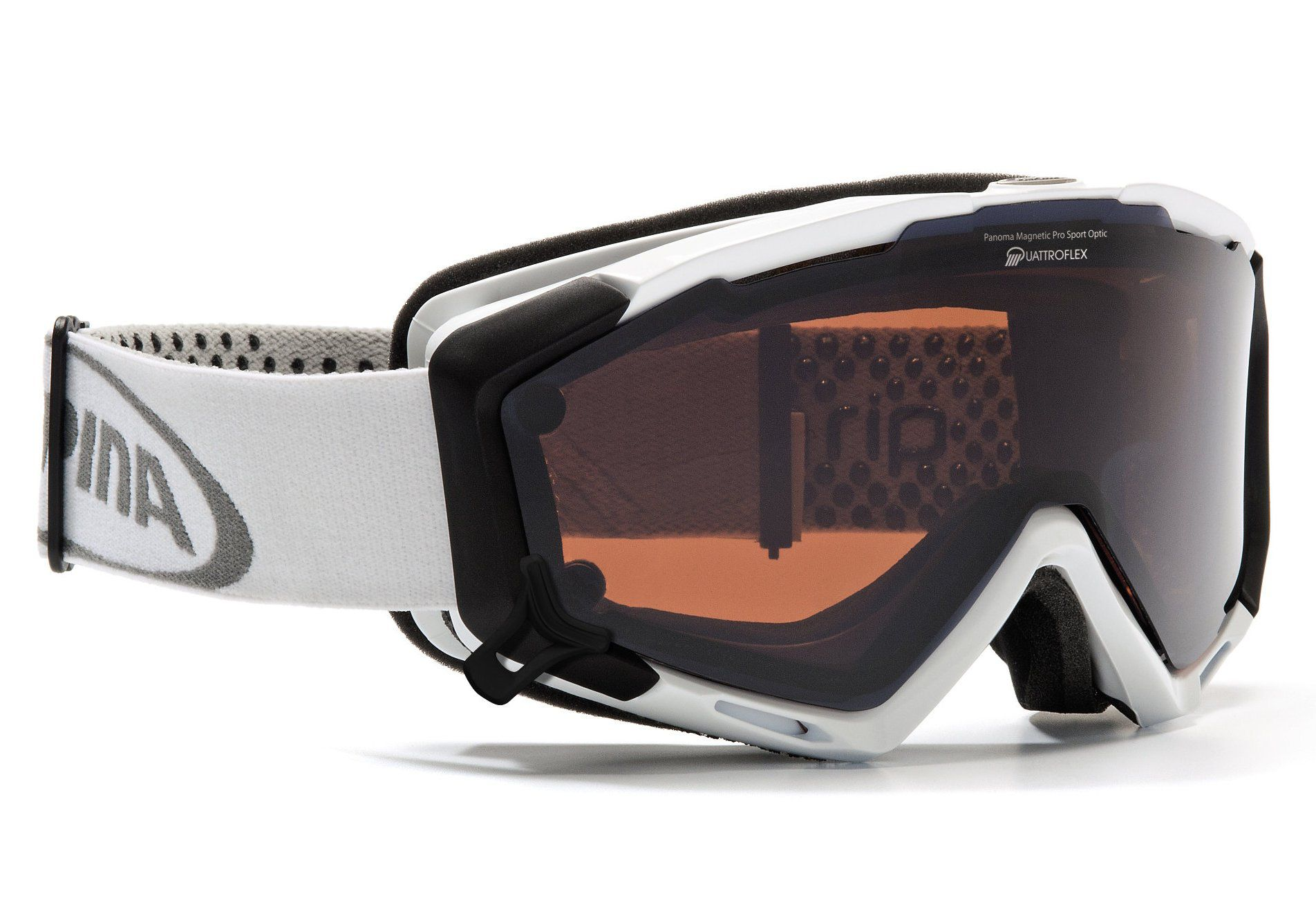 ALPINA SPORT Skibrille, weiss, Alpina, »Panoma Magnetic«, Made in Germany