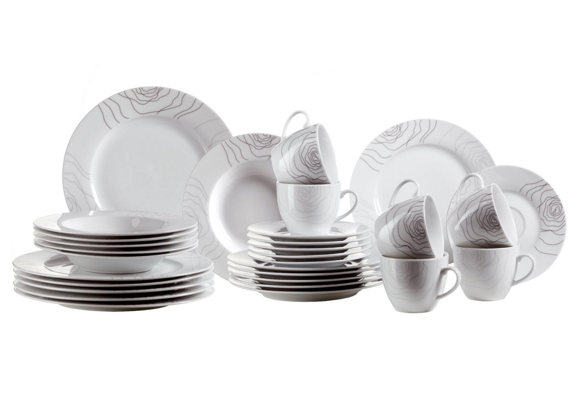 DOMESTIC Domestic Kombiservice, Porzellan, »ELISSO« (30-teilig)